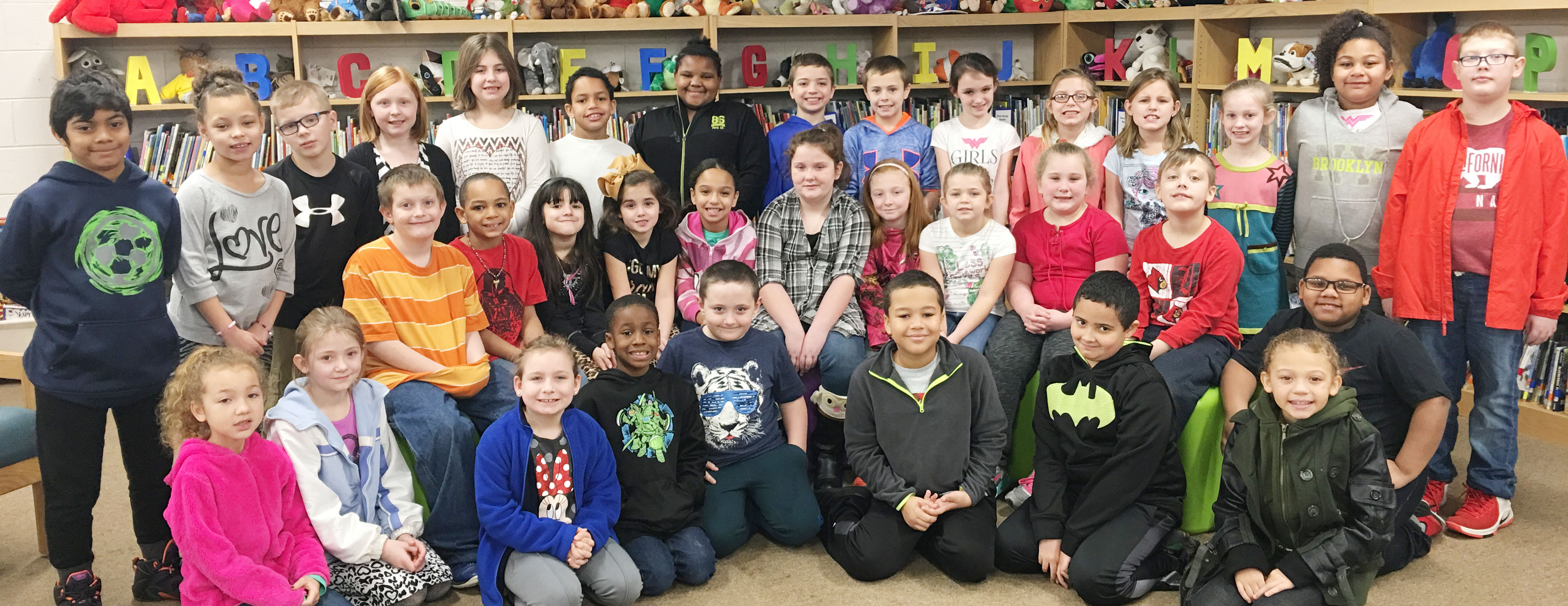 CES third-graders are honored for leveling up with Lexia or Reading Plus.