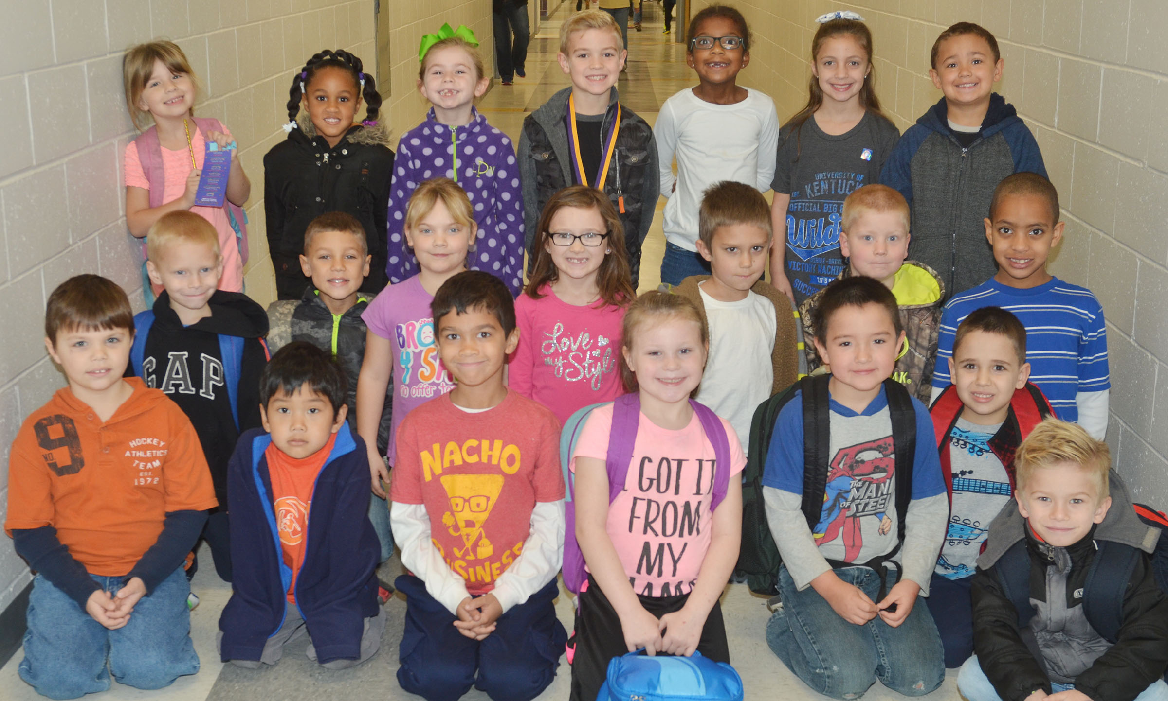 CES first-graders are honored for leveling up with Lexia or Reading Plus.