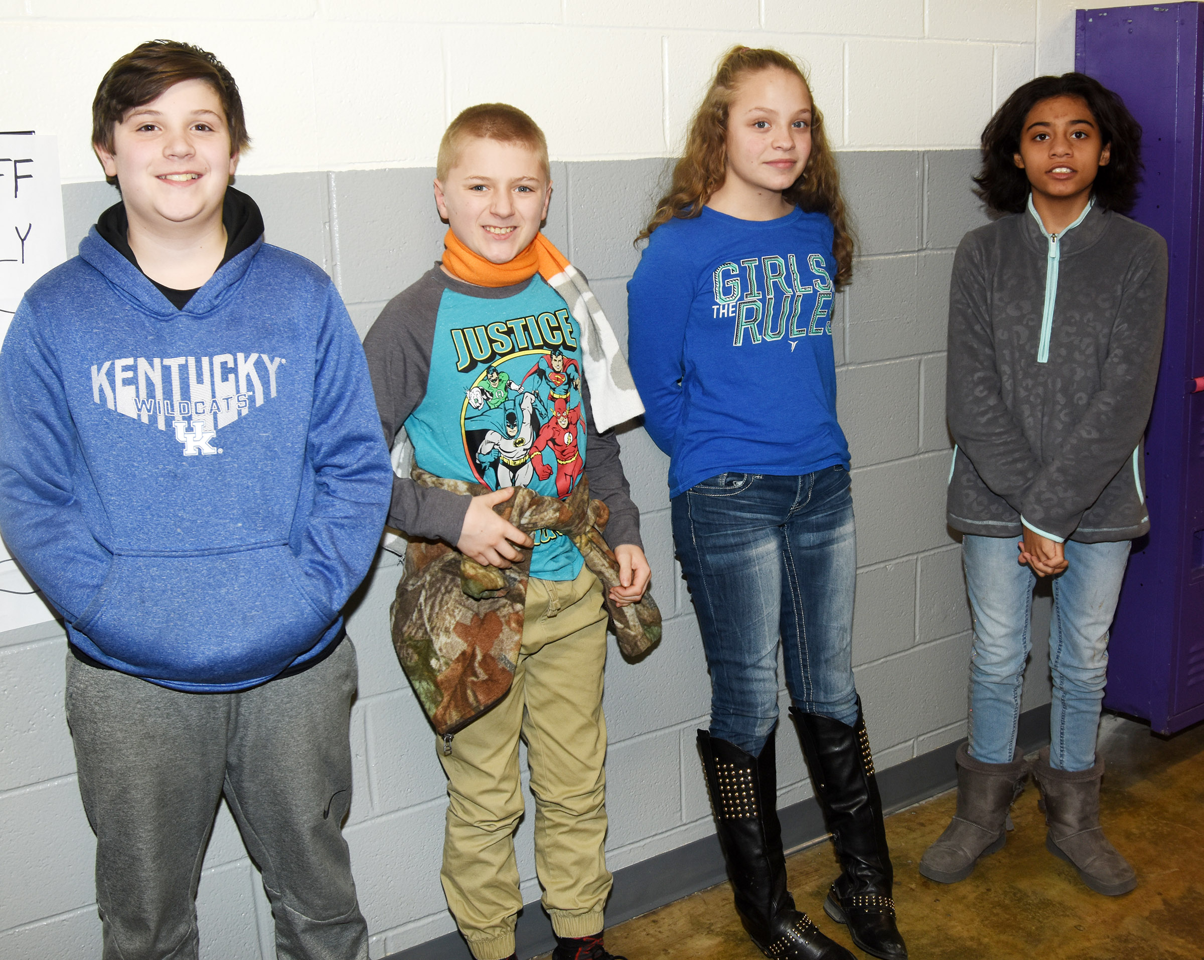 CES students and teachers wear blue and orange in support of Marshall County High School.