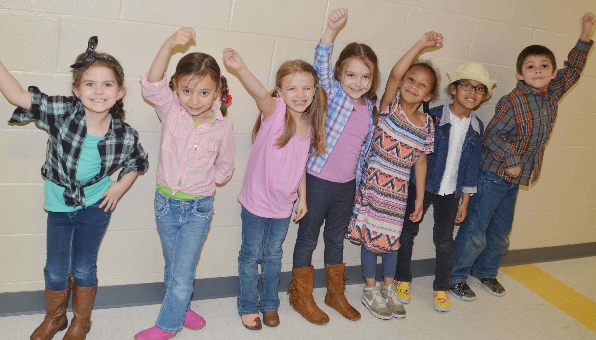 CES students dress for Country/Western Day.
