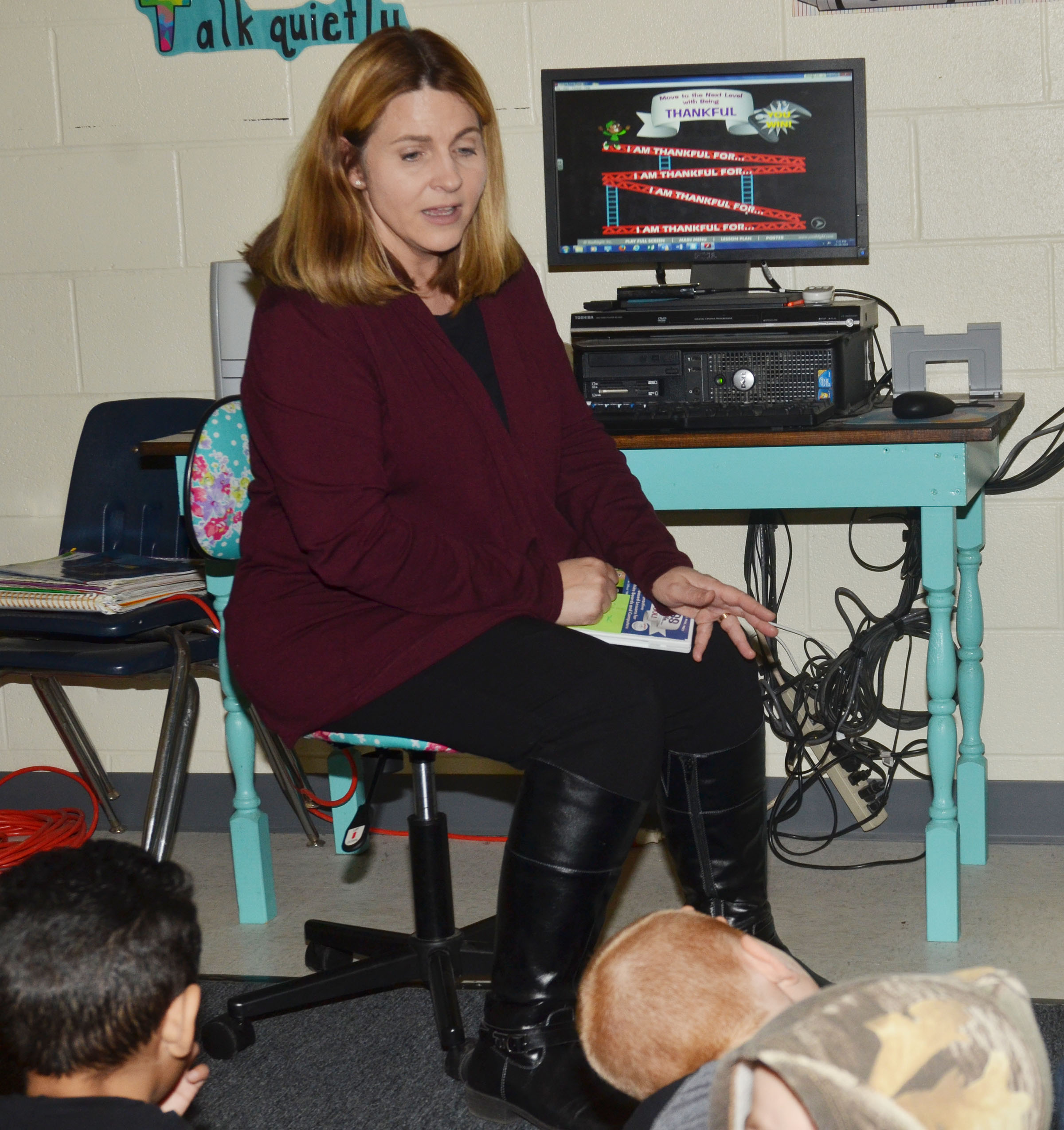 CES Guidance Counselor Sonya Orberson recently spoke to students about what students are thankful for in their lives, and ways to show that thankfulness.