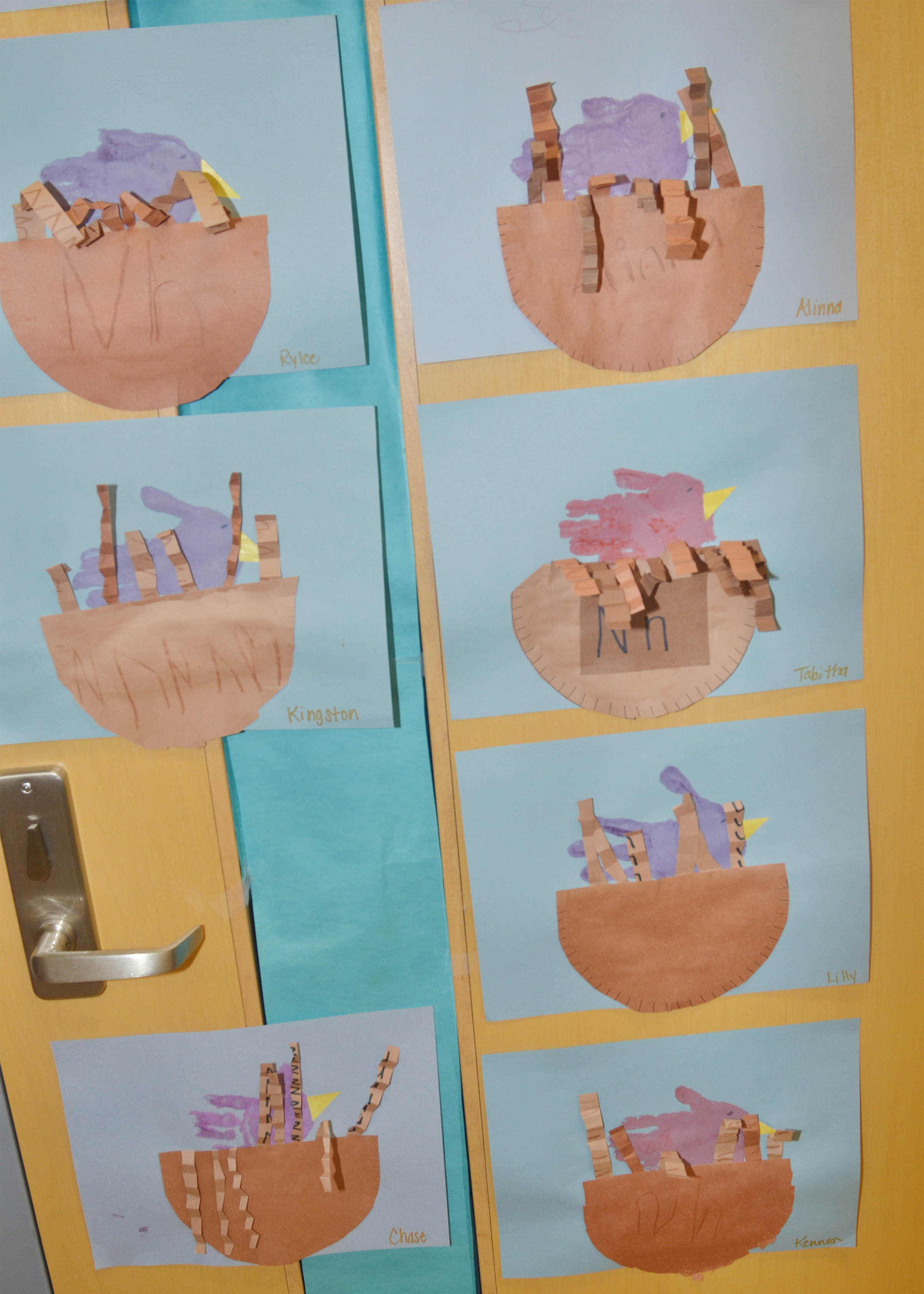 "CES preschoolers' ""Are You My Mother?"" projects are on display."