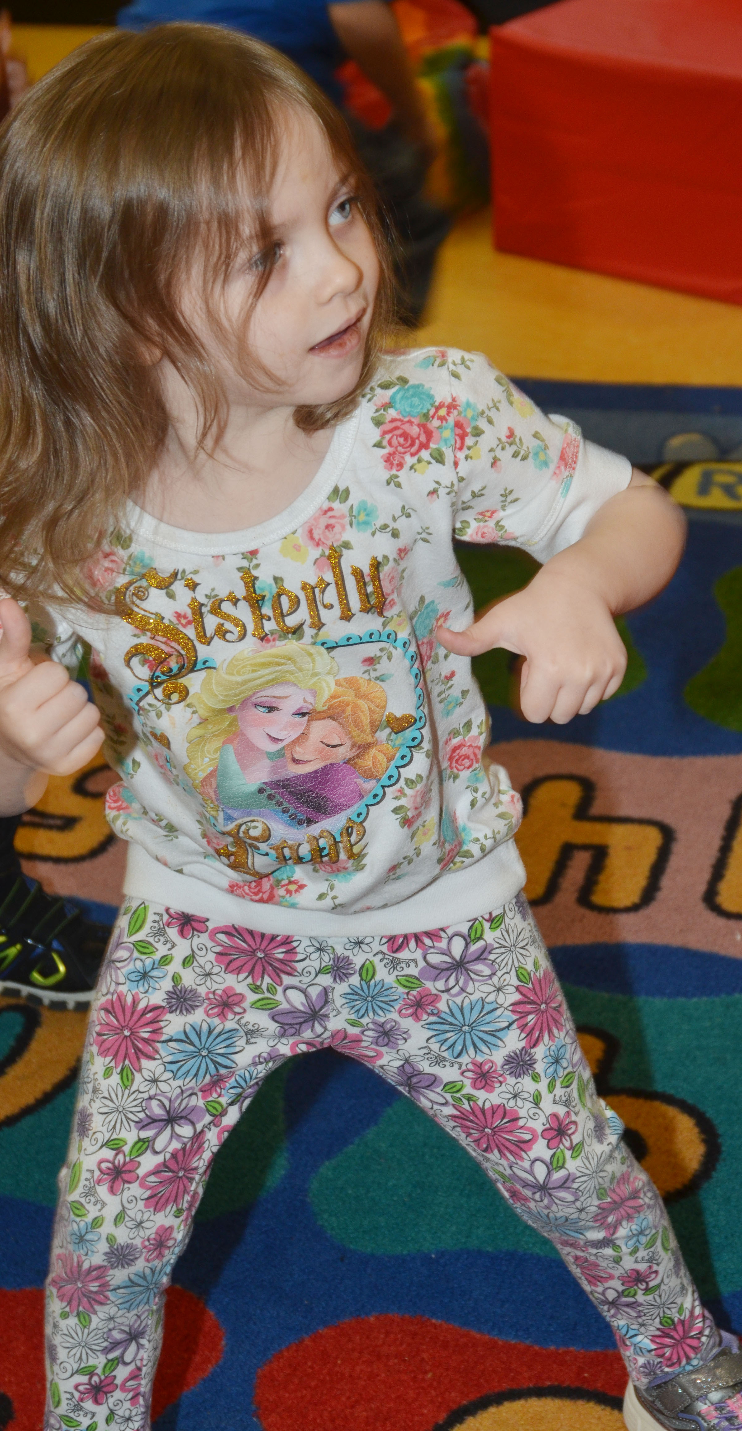 CES preschool student Dahlia Ward dances.