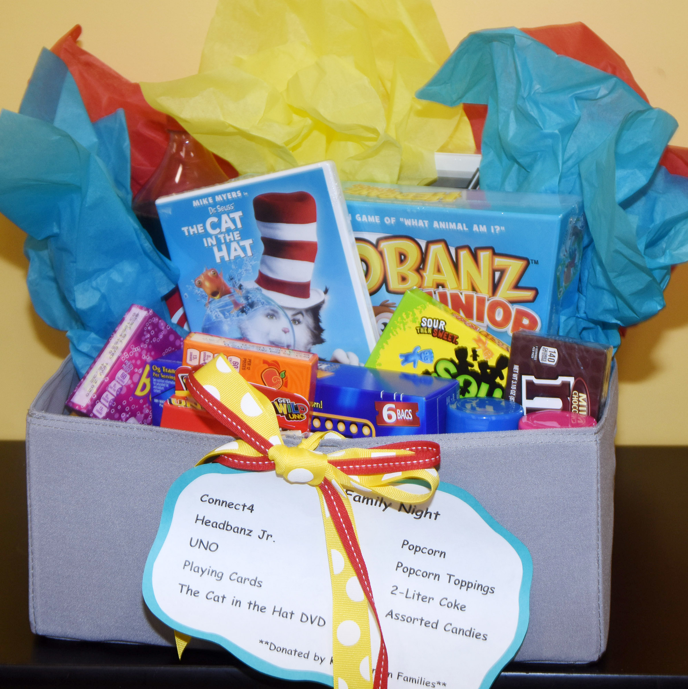 This is one of several gift baskets up for auction as part of Read Across America Week at Campbellsville Elementary School. The minimum bid for each basket is $25. All proceeds will benefit CES.