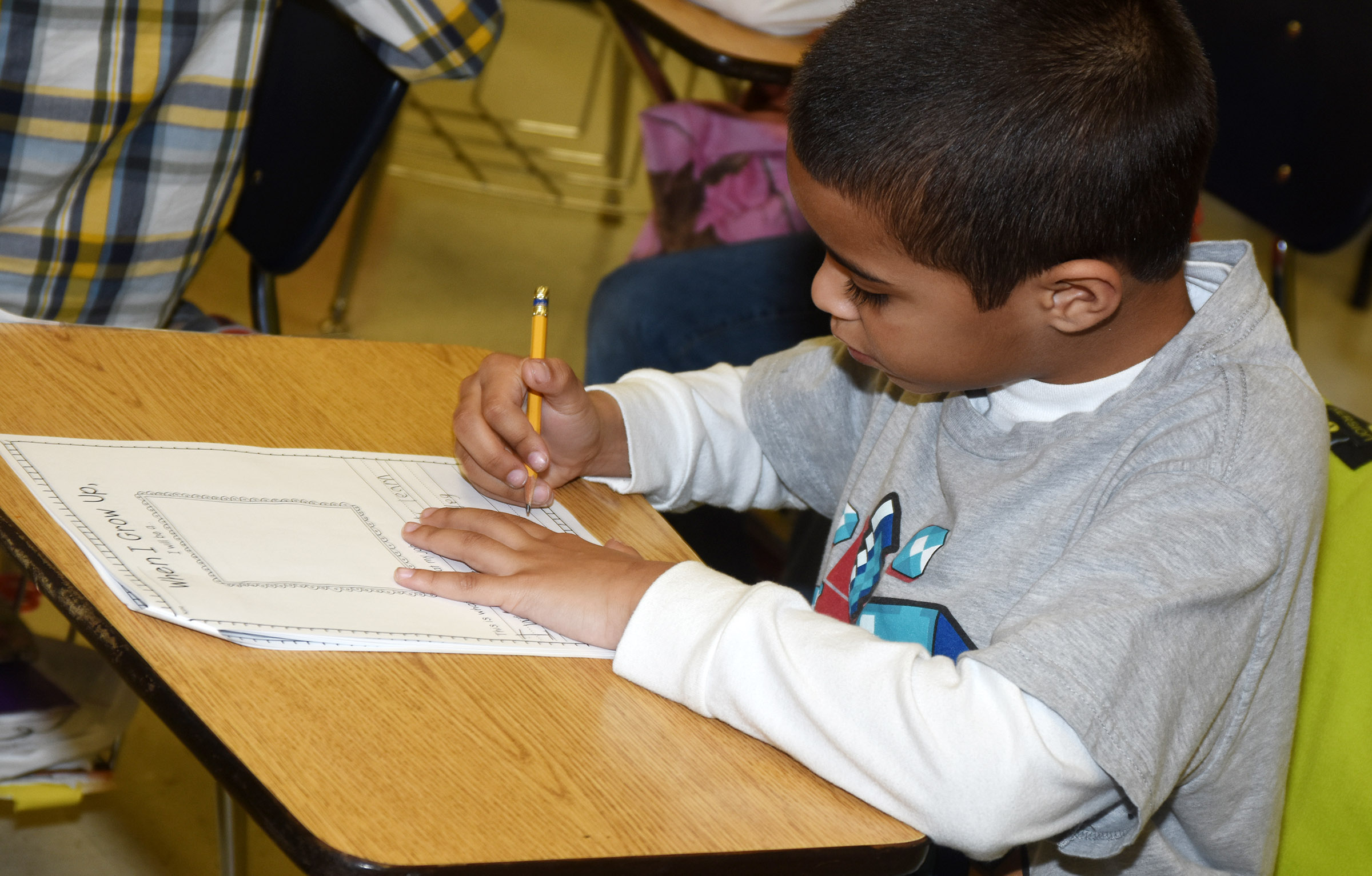 CES third-grader Keylan Strong writes about his future career.