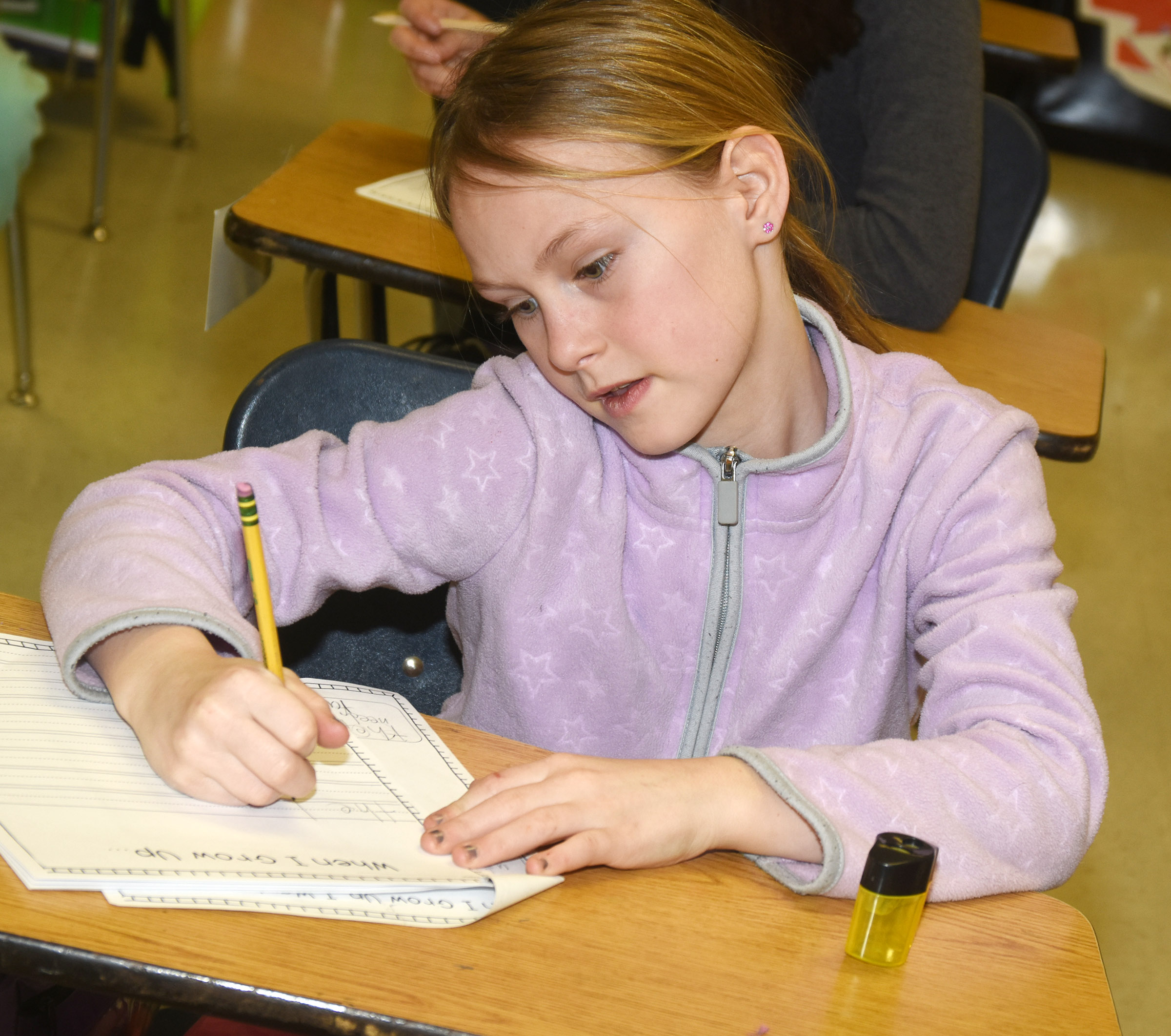 CES third-grader Rebecca Ray writes about her future career.