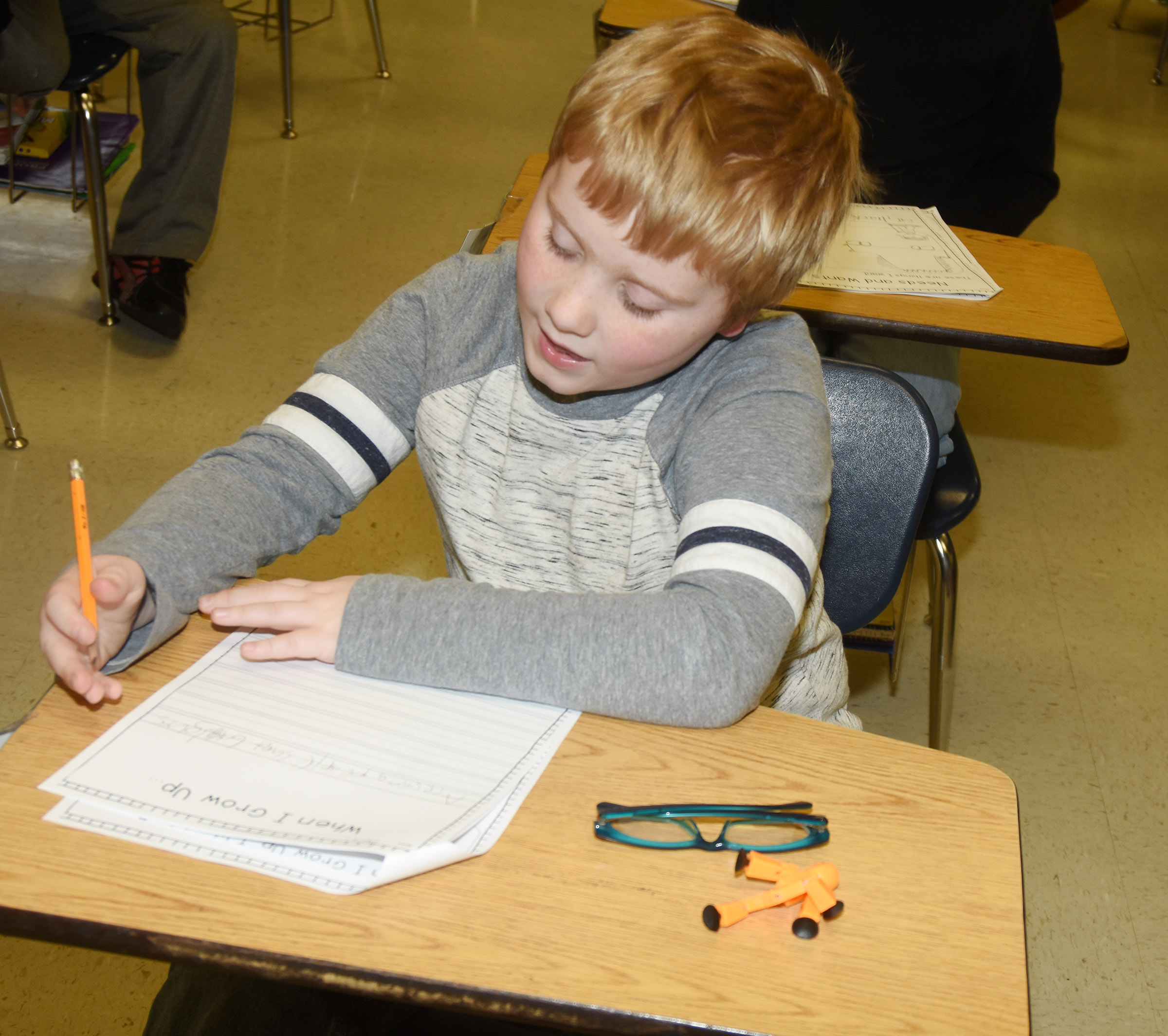 CES third-grader Aidan Bowles writes about his future career.
