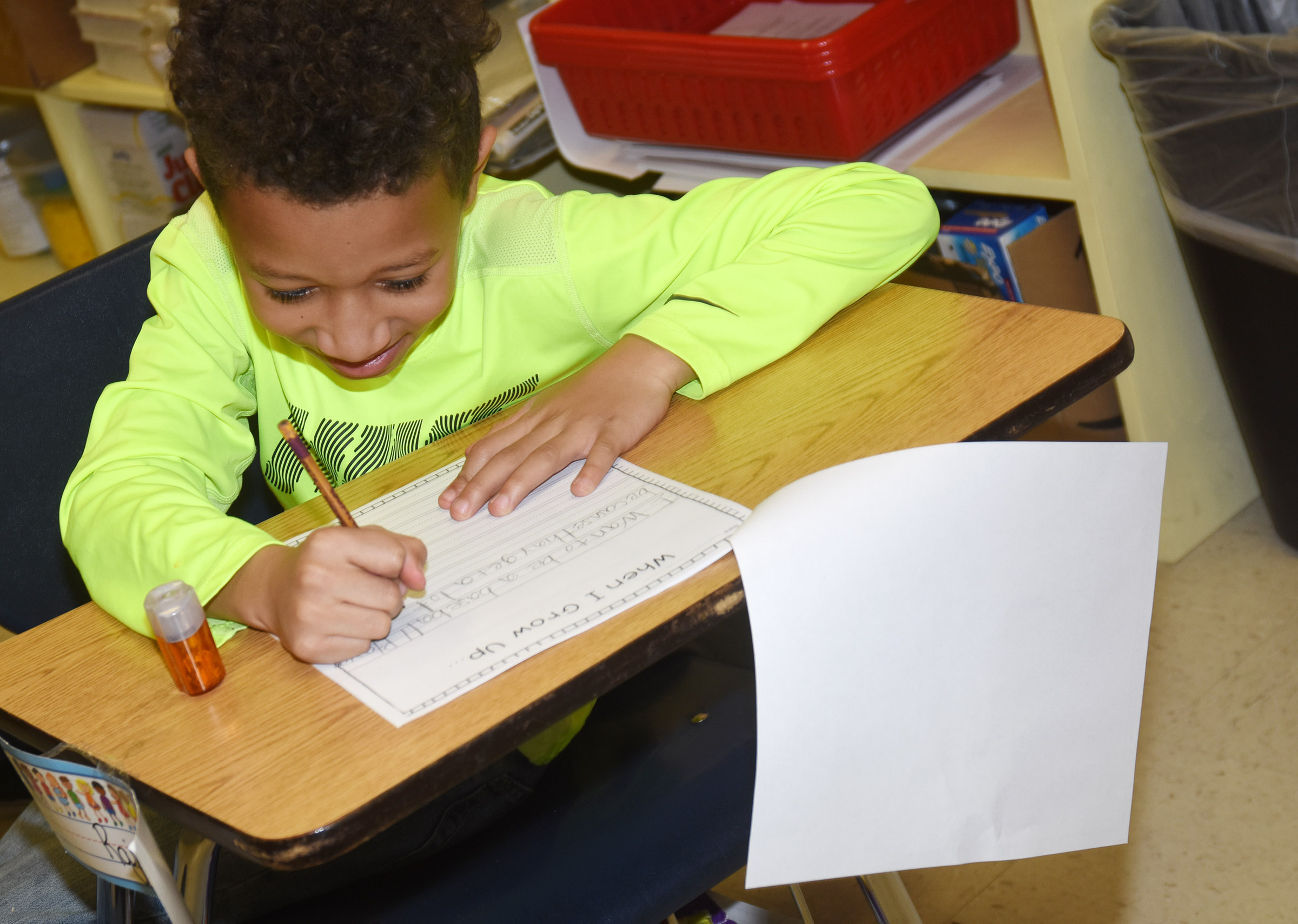 CES third-grader Rajon Taylor writes about becoming a professional baseball player.