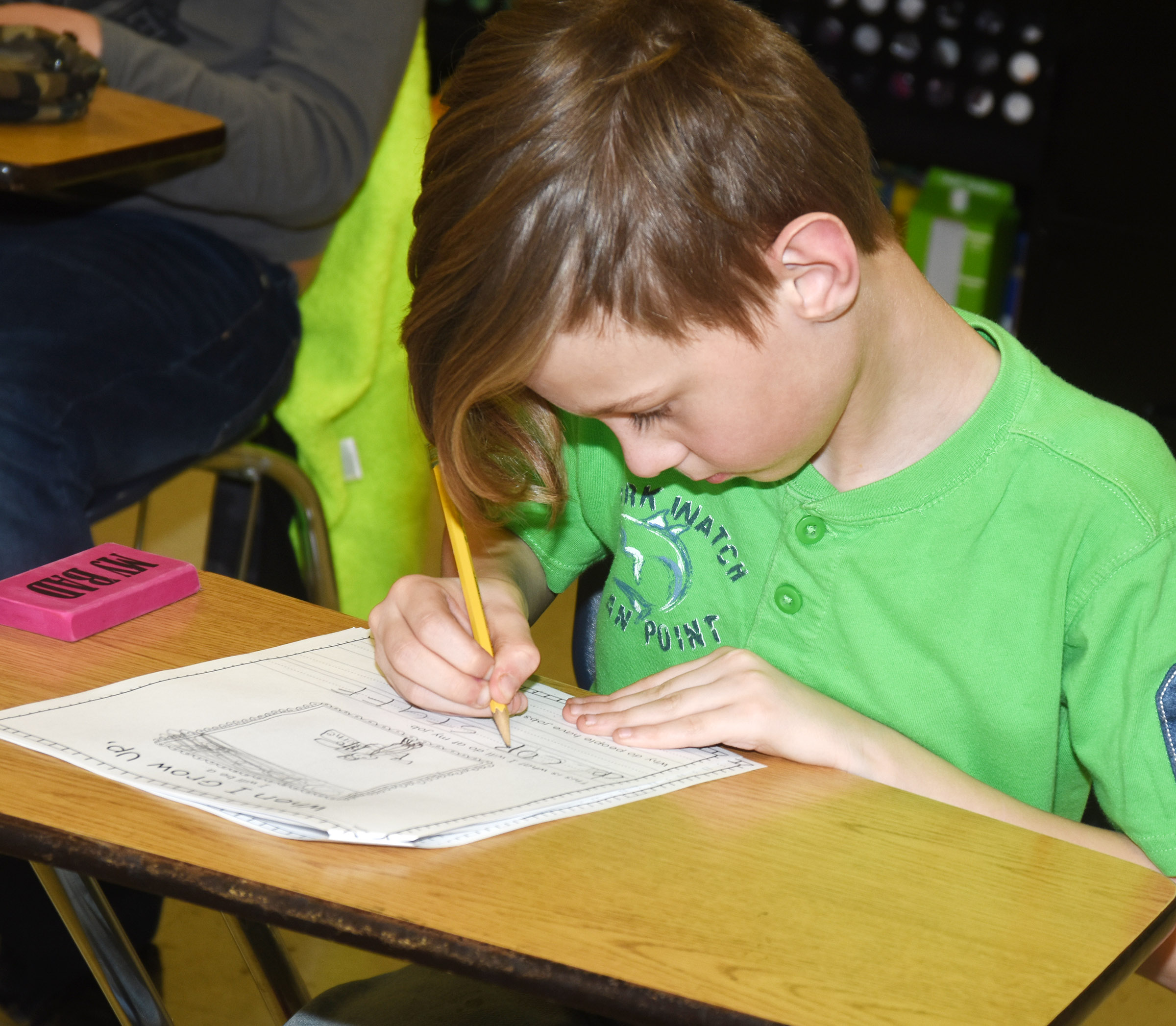 CES third-grader Isaya Adams writes about his future career.