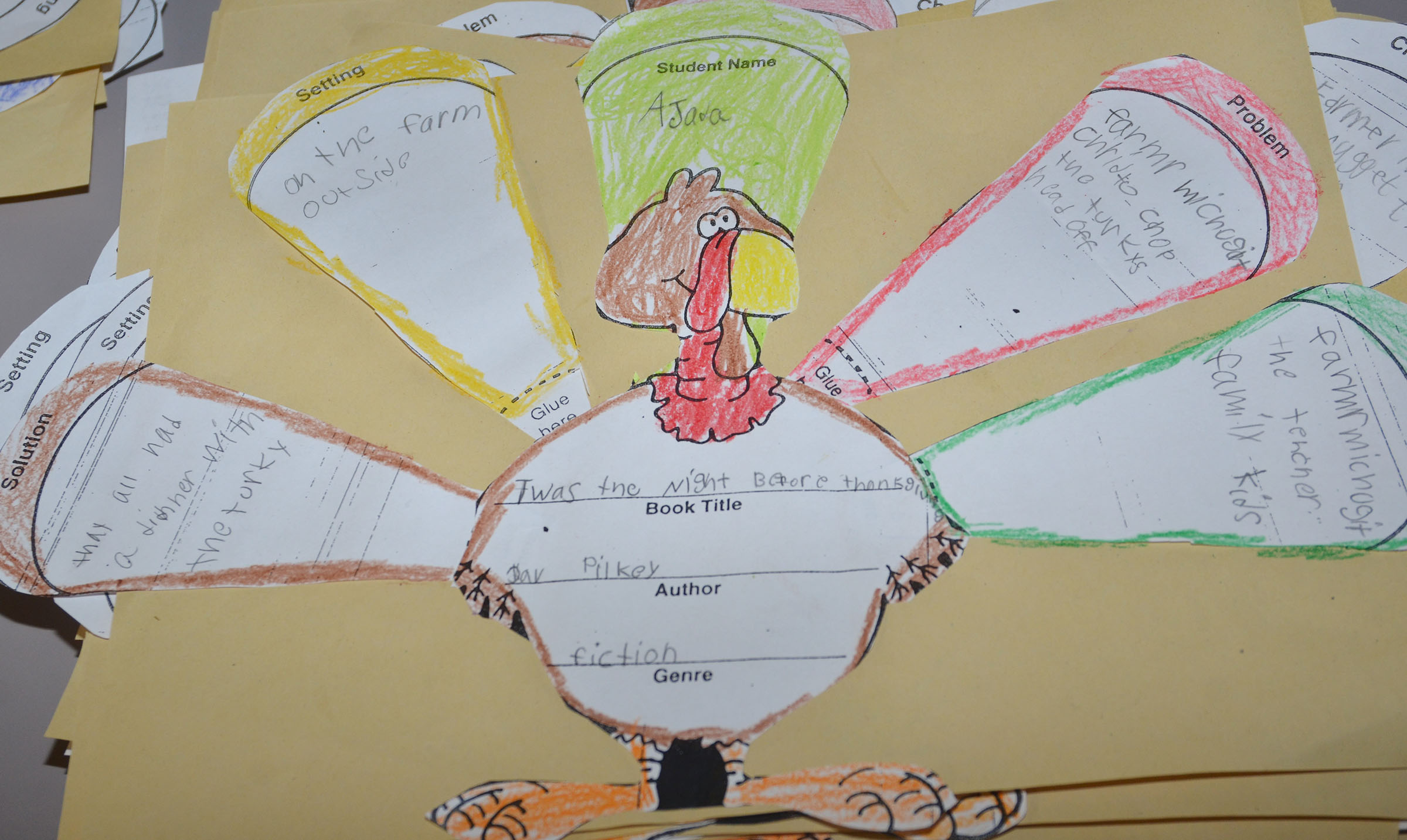 Pictured is CES second-grader Ajada Smith's finished turkey.