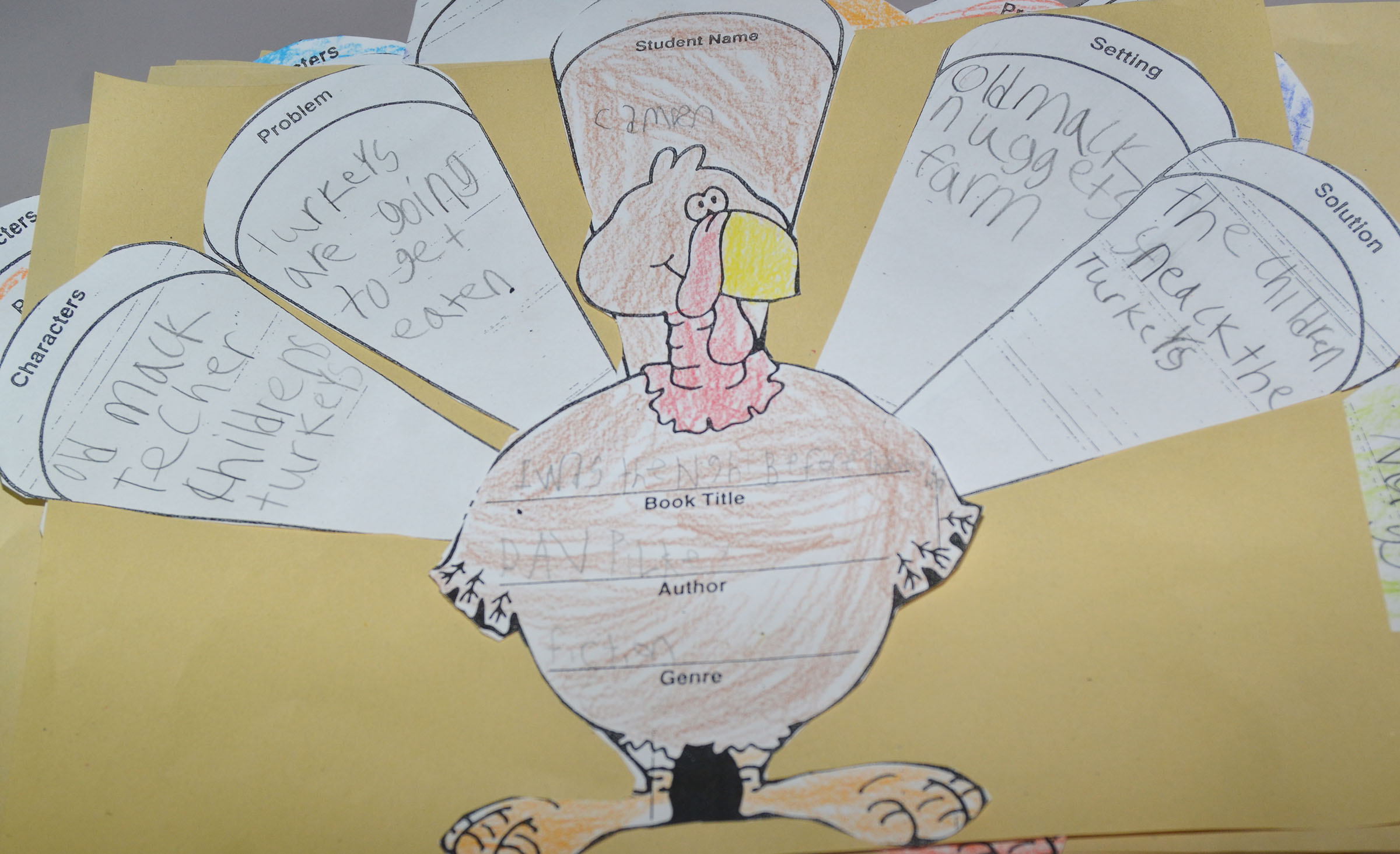 Pictured is CES second-grader Camren Skaggs's finished turkey.