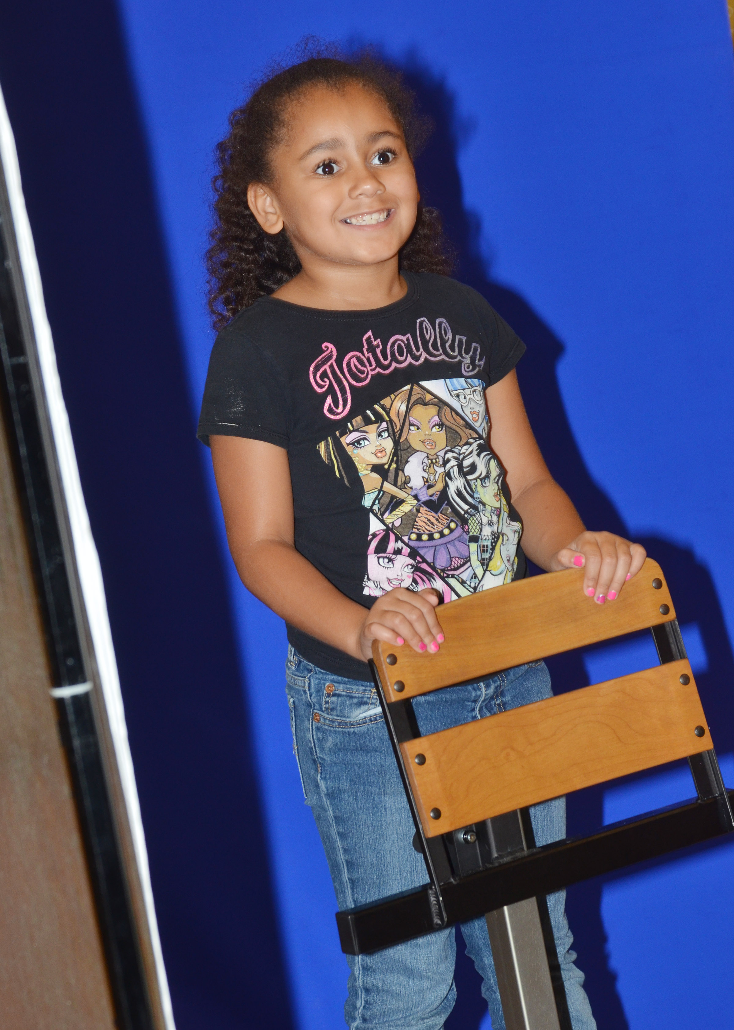 CES second-grader Keitona Whitehead smiles for her photo.
