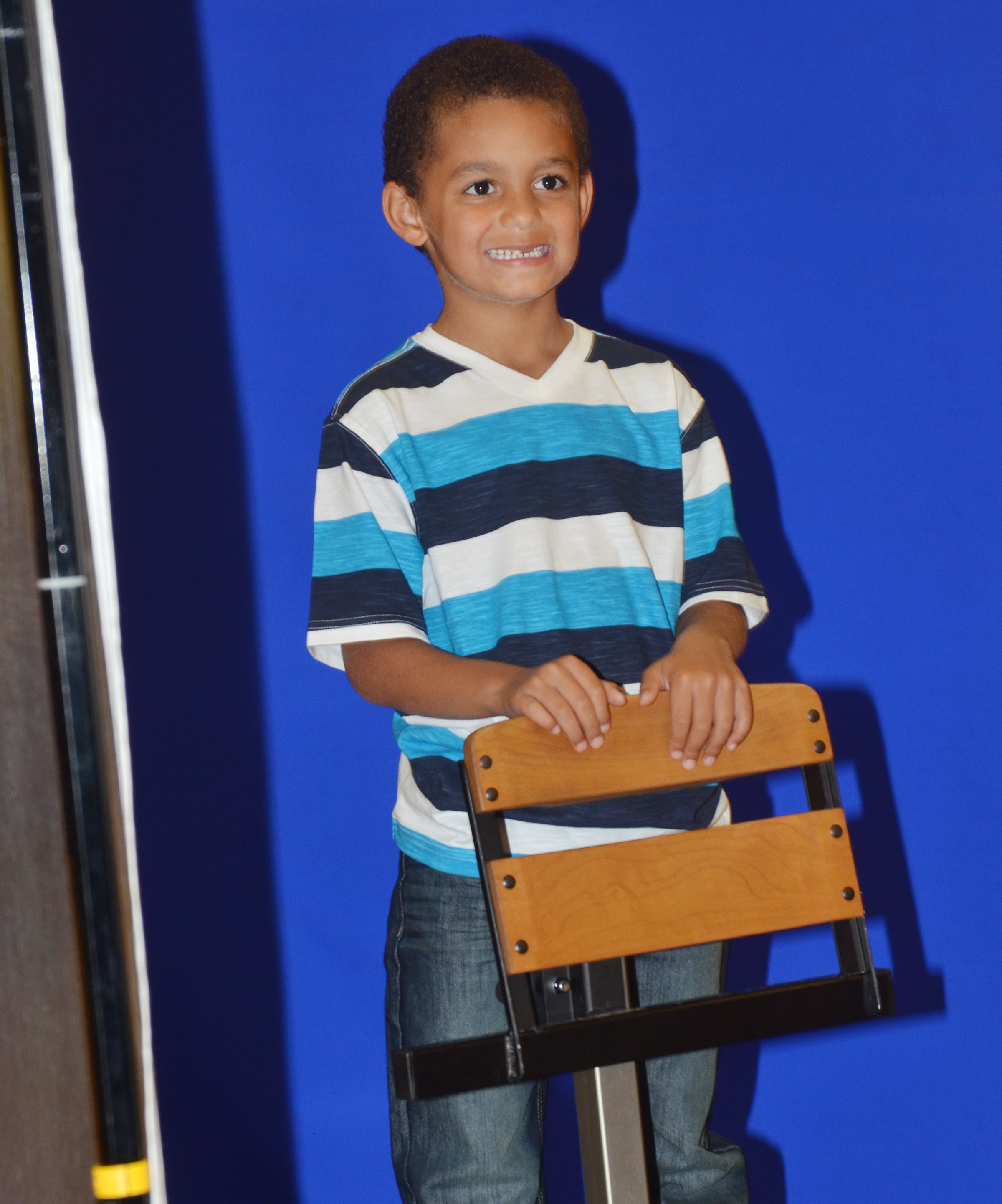 CES first-grader Quincy Travis smiles.