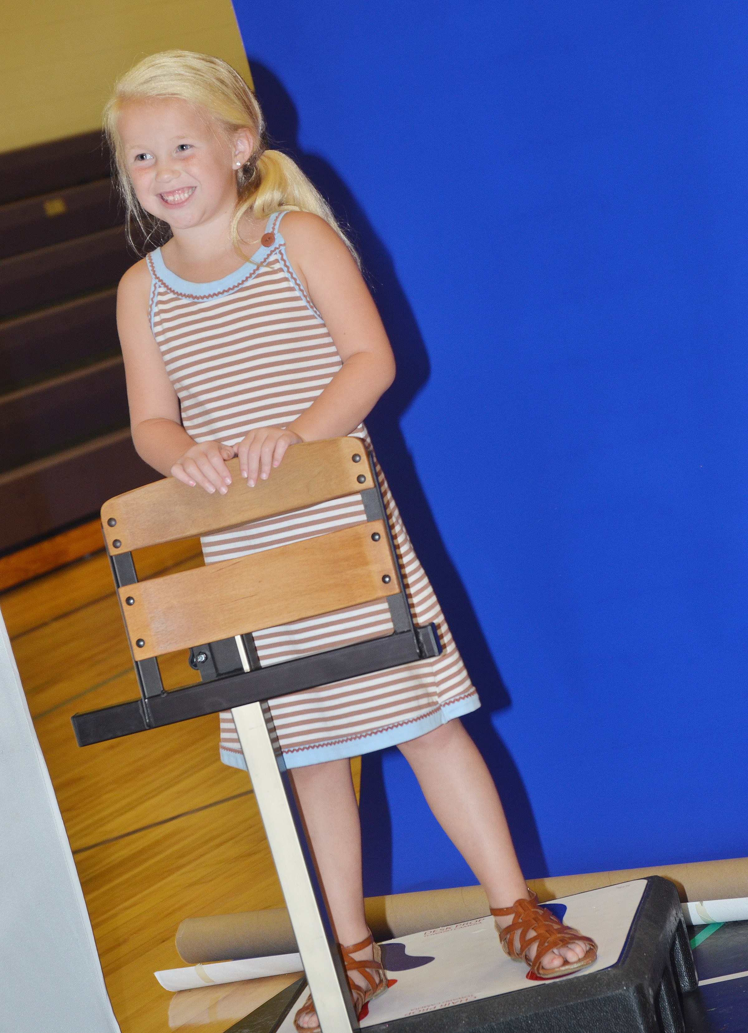 CES first-grader Lillie Judd smiles for the camera.