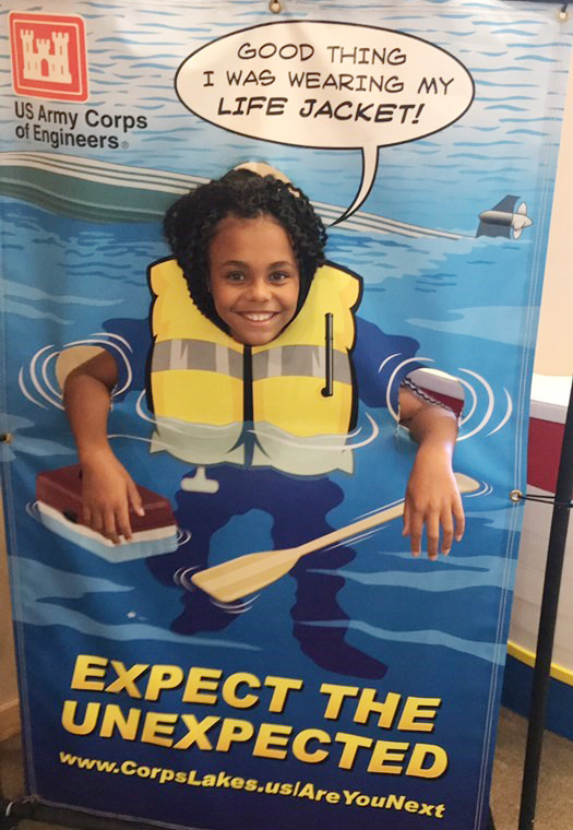 CES third-grader Braelyn Taylor poses for a photo at the Green River Lake Visitor's Center.