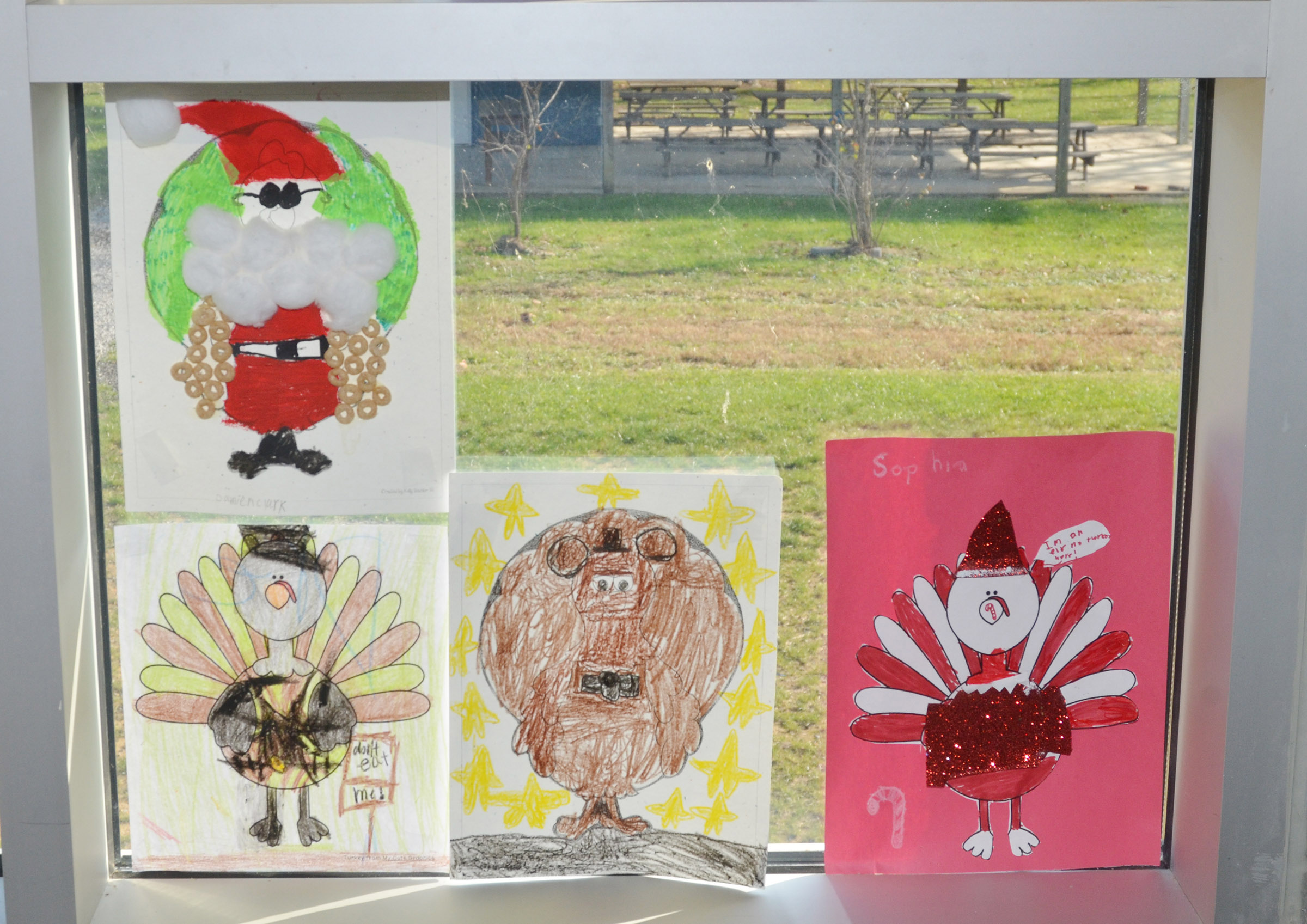 CES third-graders created these turkeys in disguise.