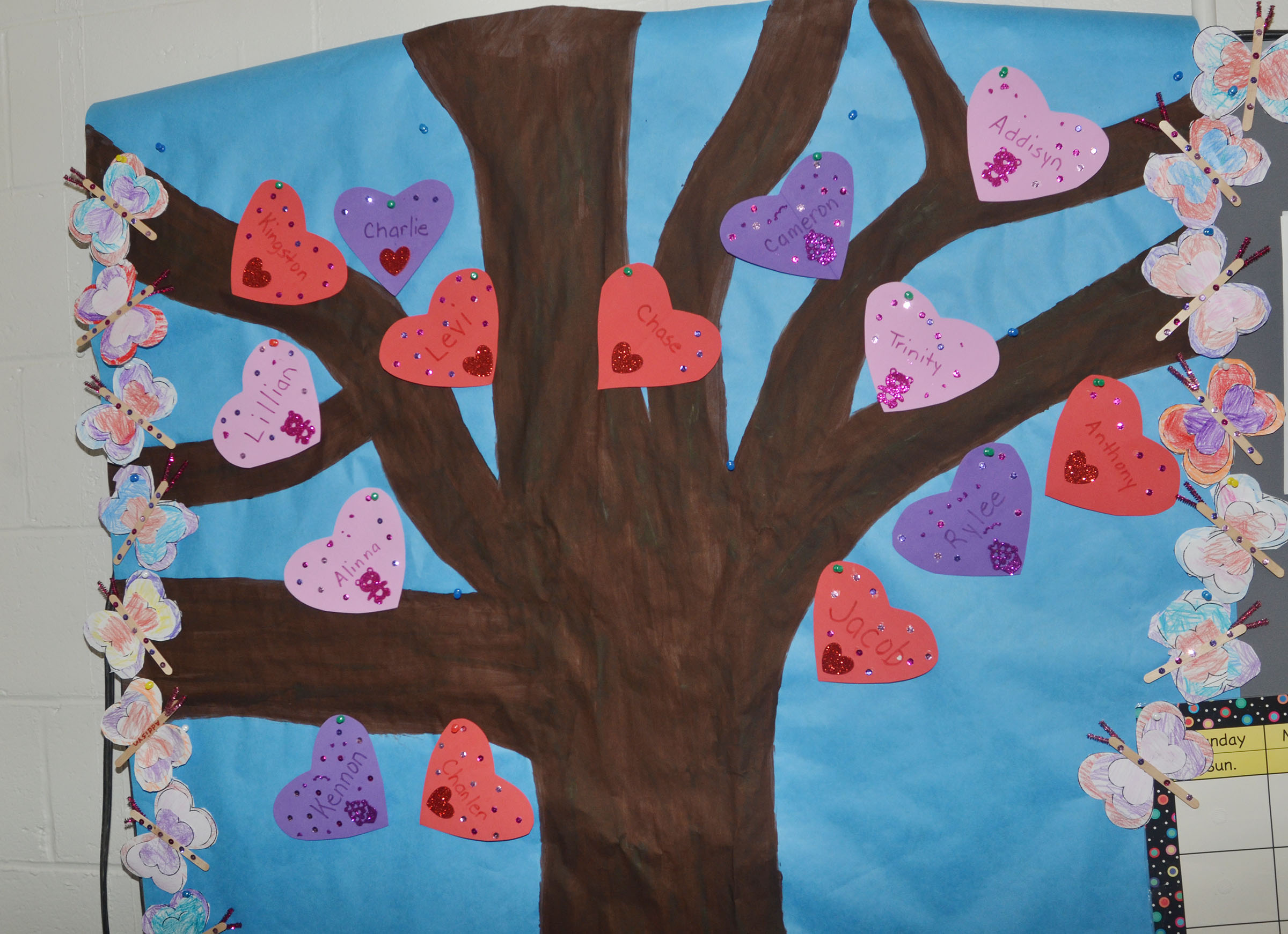 CES preschool students decorated these hearts for their classroom tree.