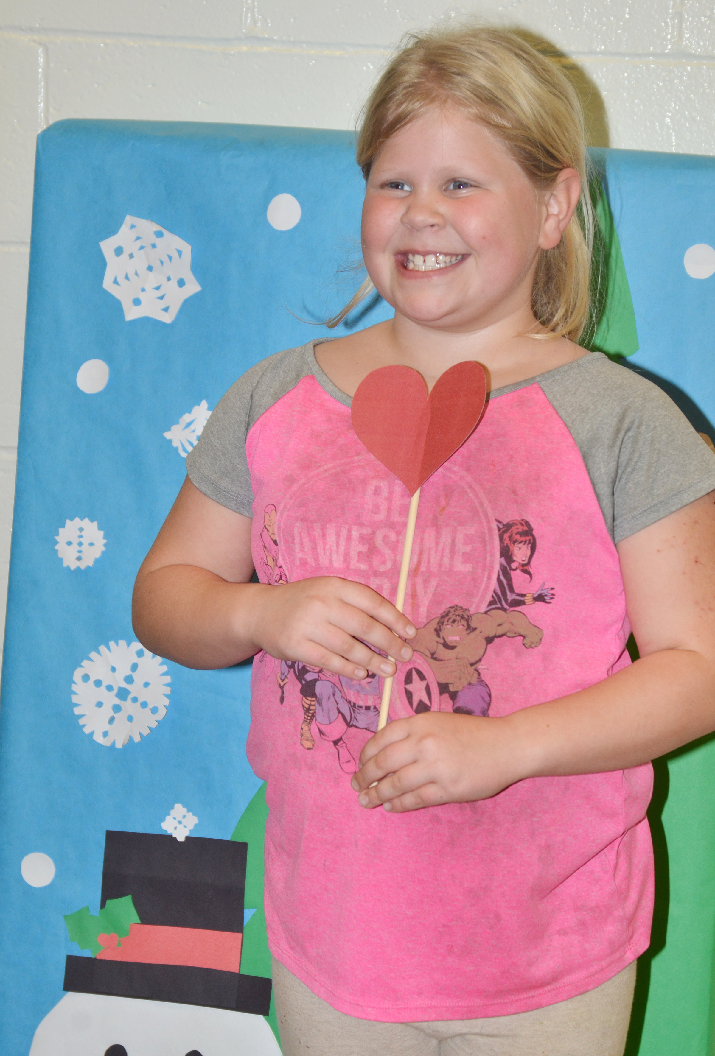 CES third-grader Lily Coots poses for a photo.