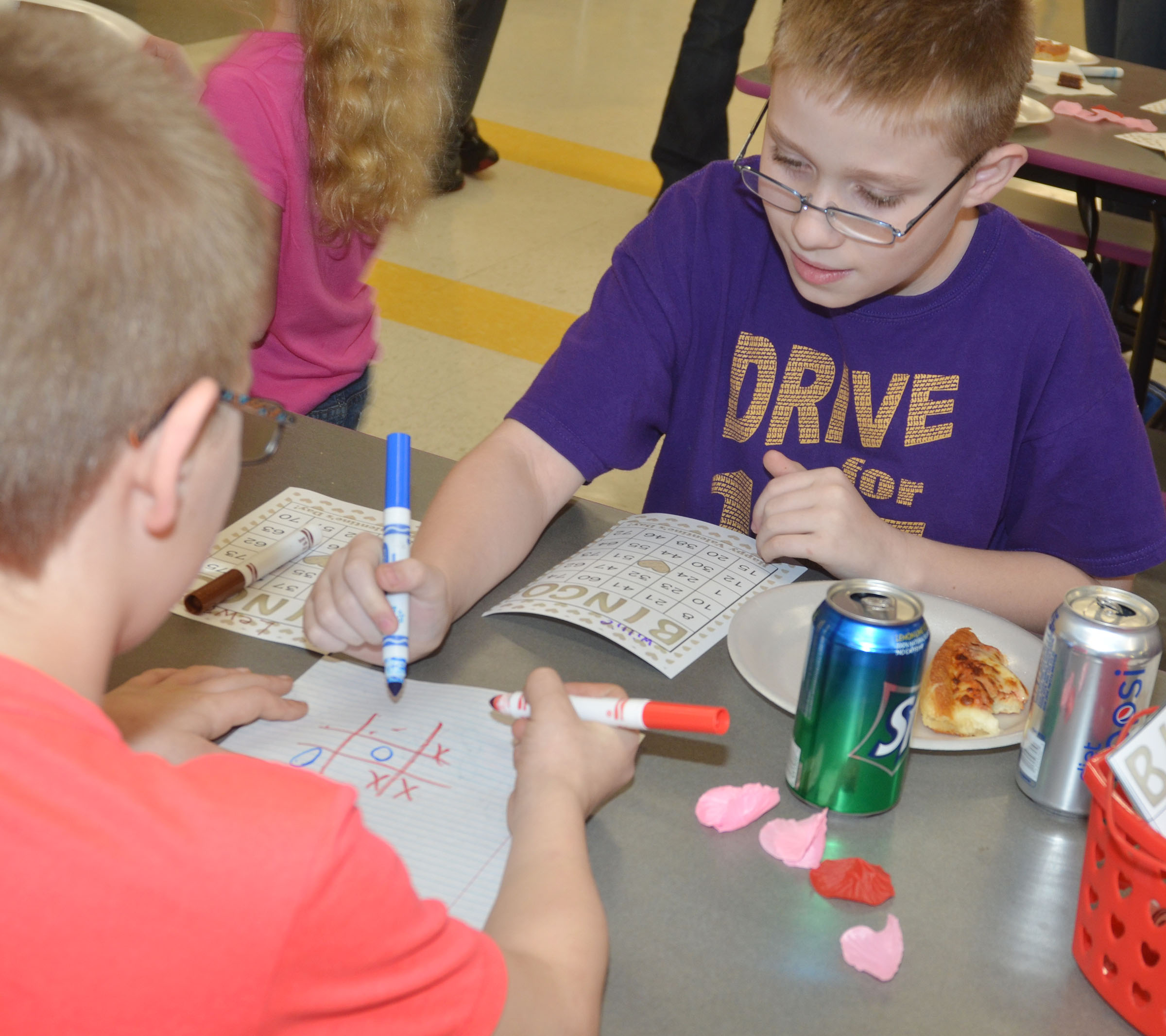 Campbellsville Middle School fifth-grader Willie Nunn plays math bingo.