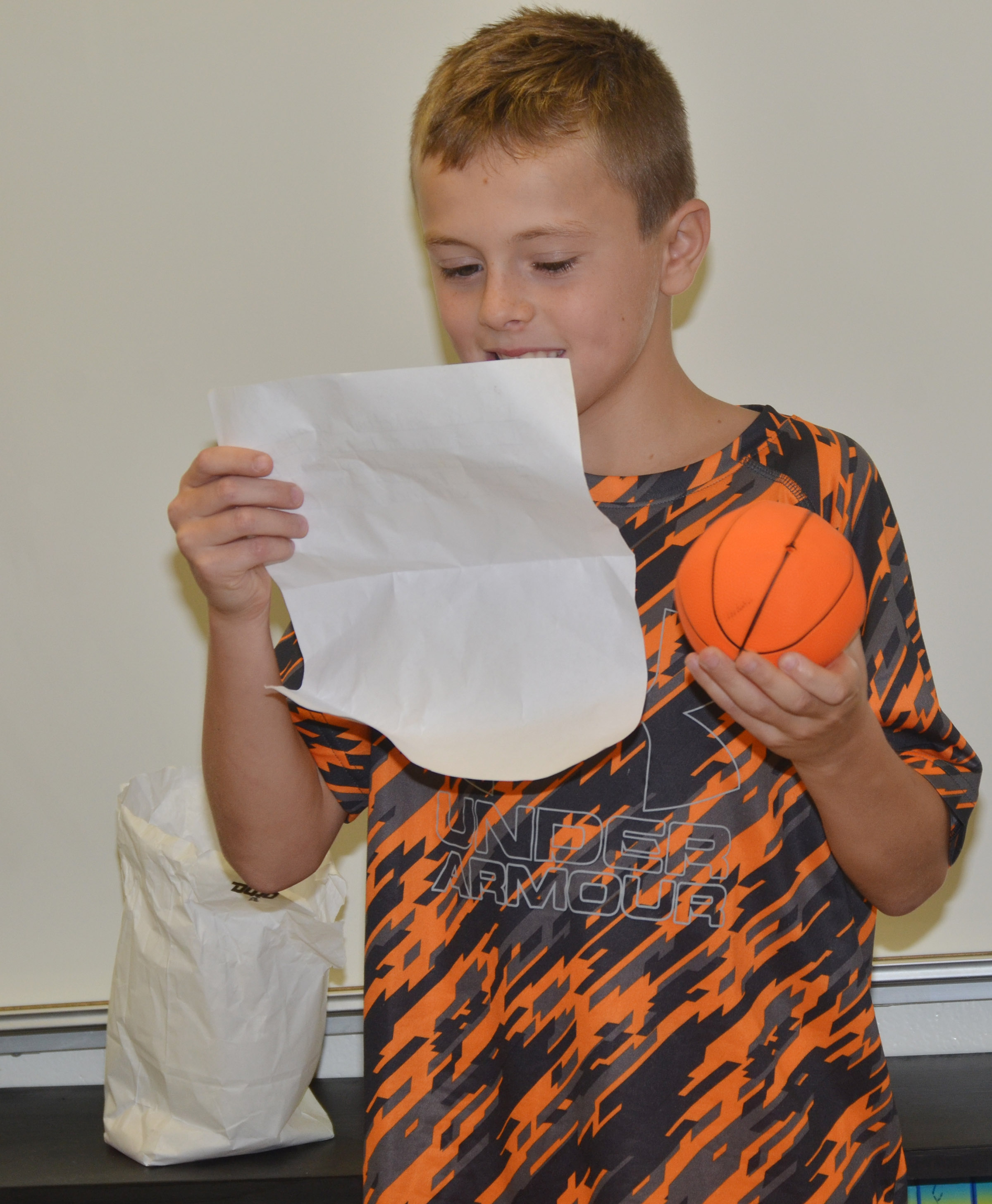 CES fourth-grader Keaton Hord says he loves basketball.