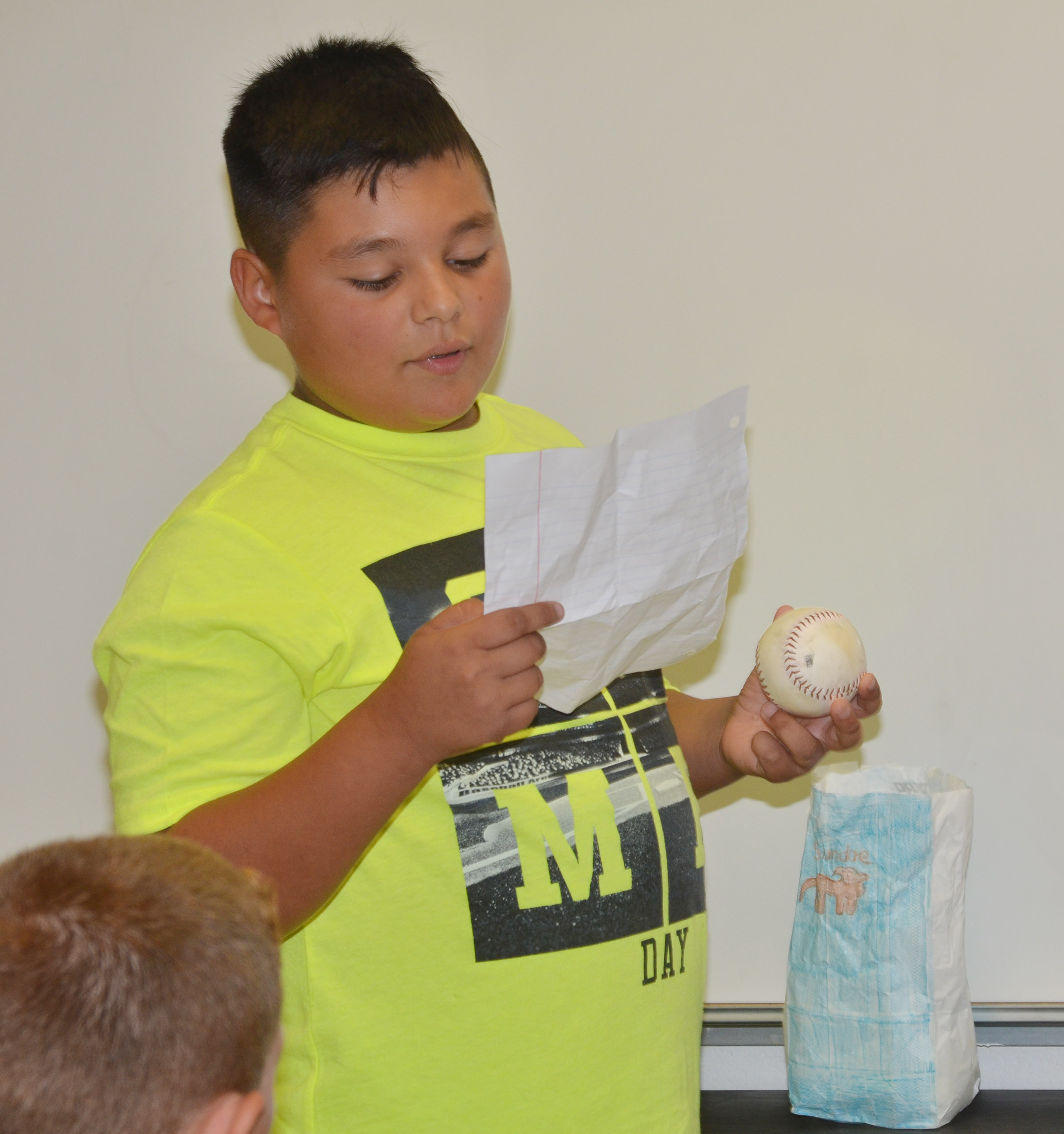 CES fourth-grader Brayden Paiz says he loves to play baseball.