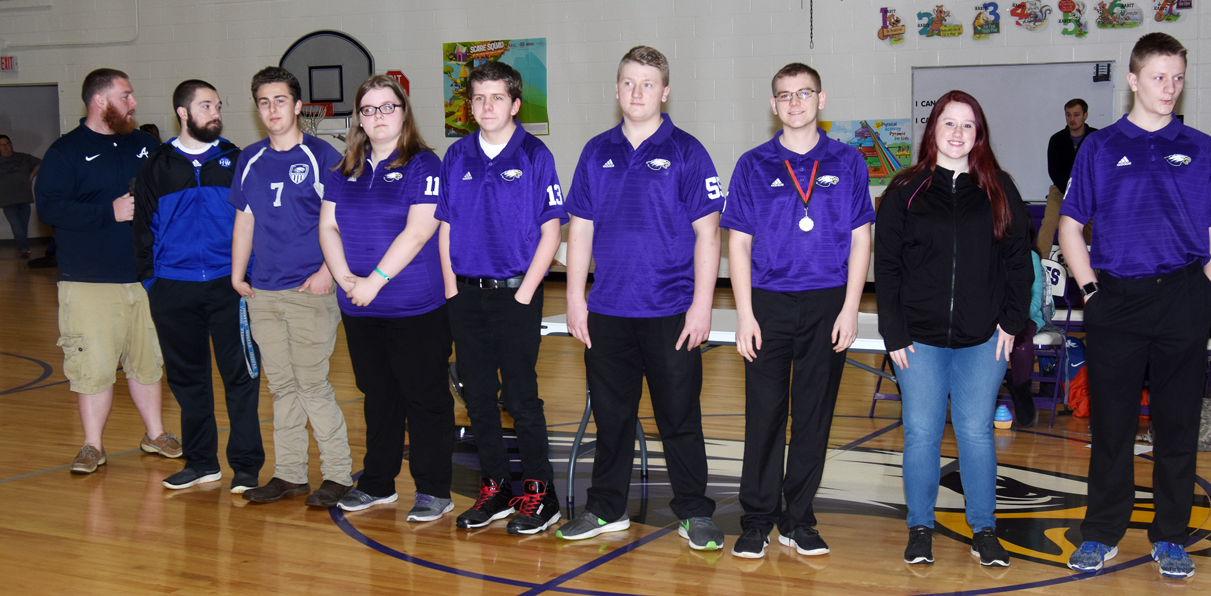 CHS bowling team members are honored at the CES assembly on Friday, Feb. 16.
