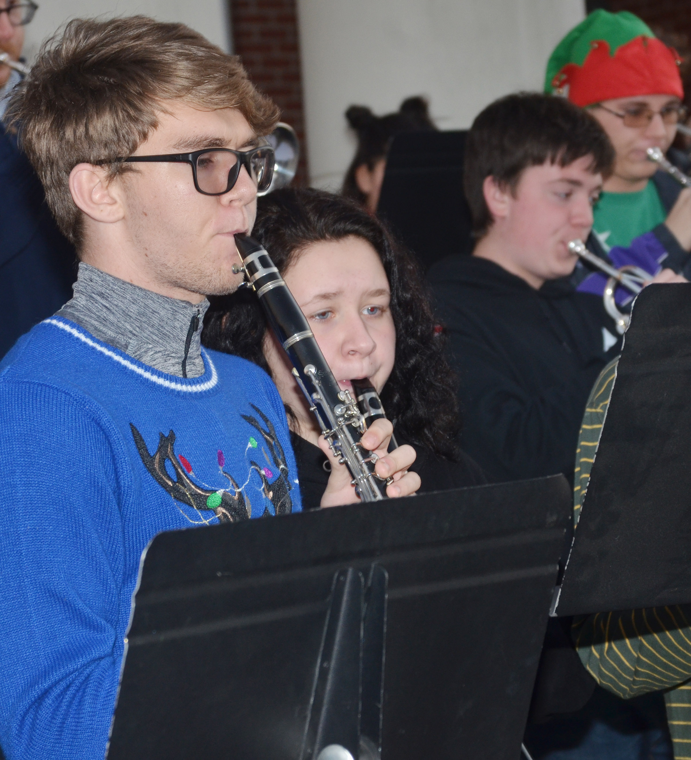 CHS senior Christian Berry plays clarinet.