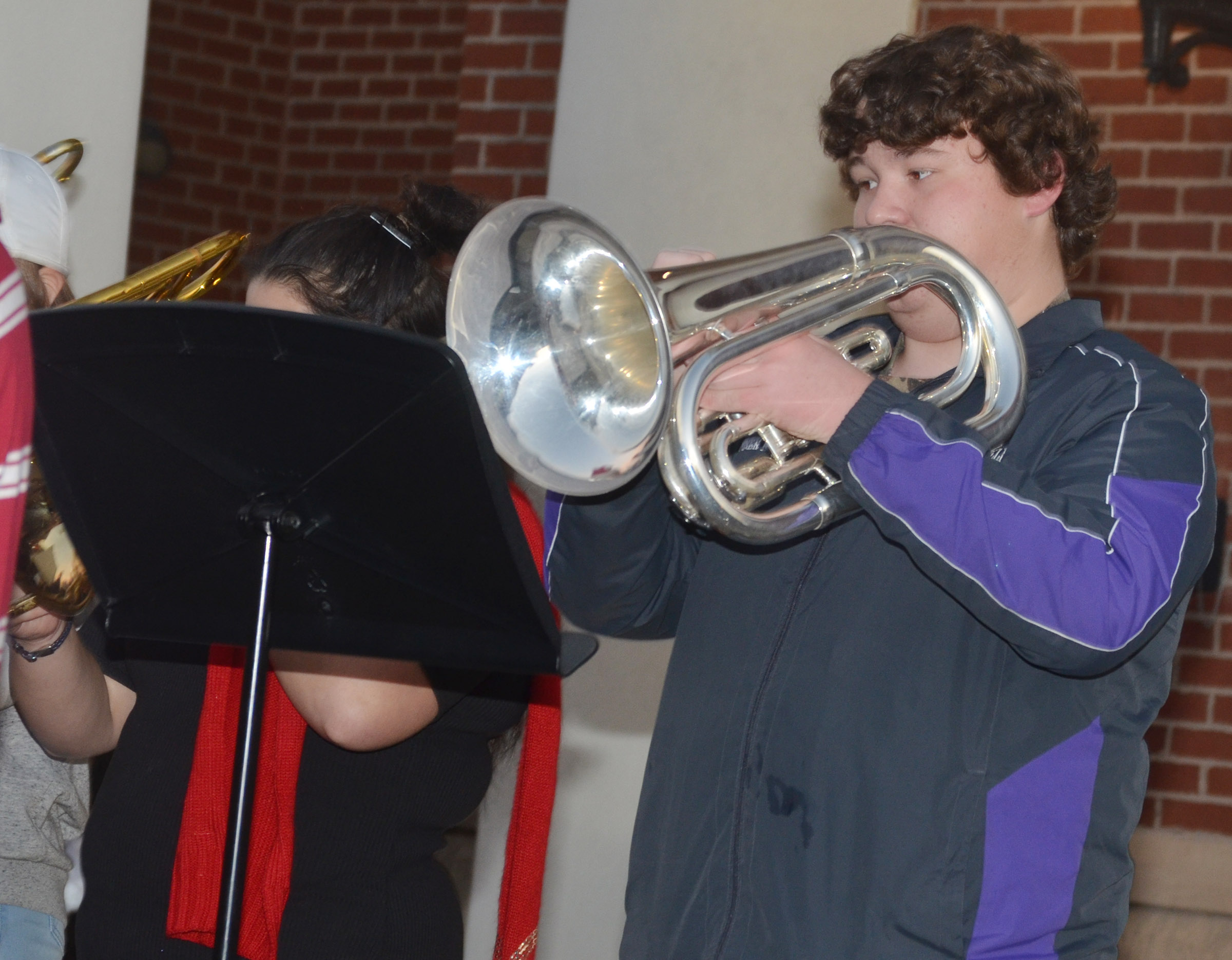 CHS sophomore Conner Riley plays baritone.