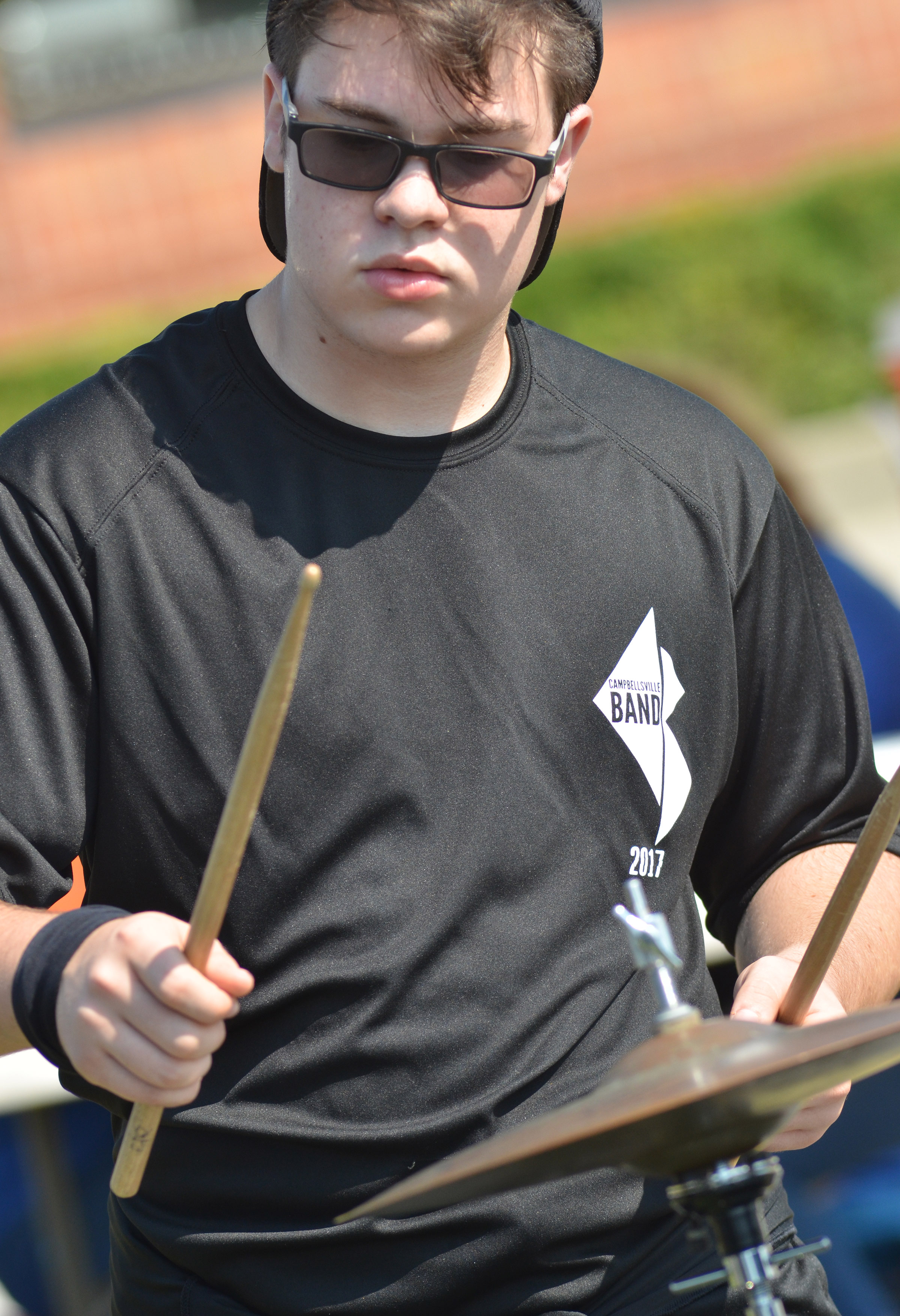 CHS junior Kyler Rakes plays percussion.