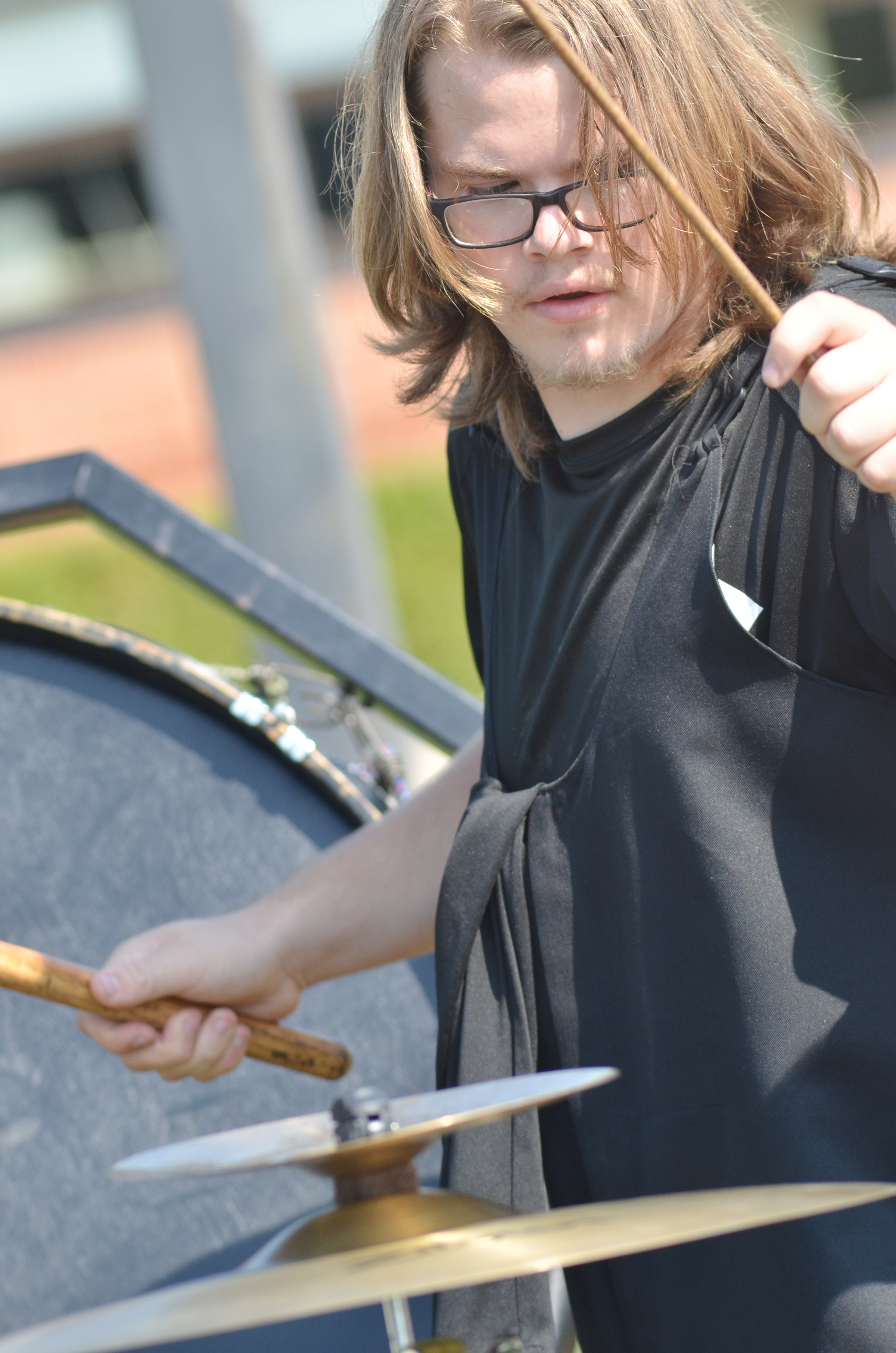 CHS junior John Netherland plays percussion.