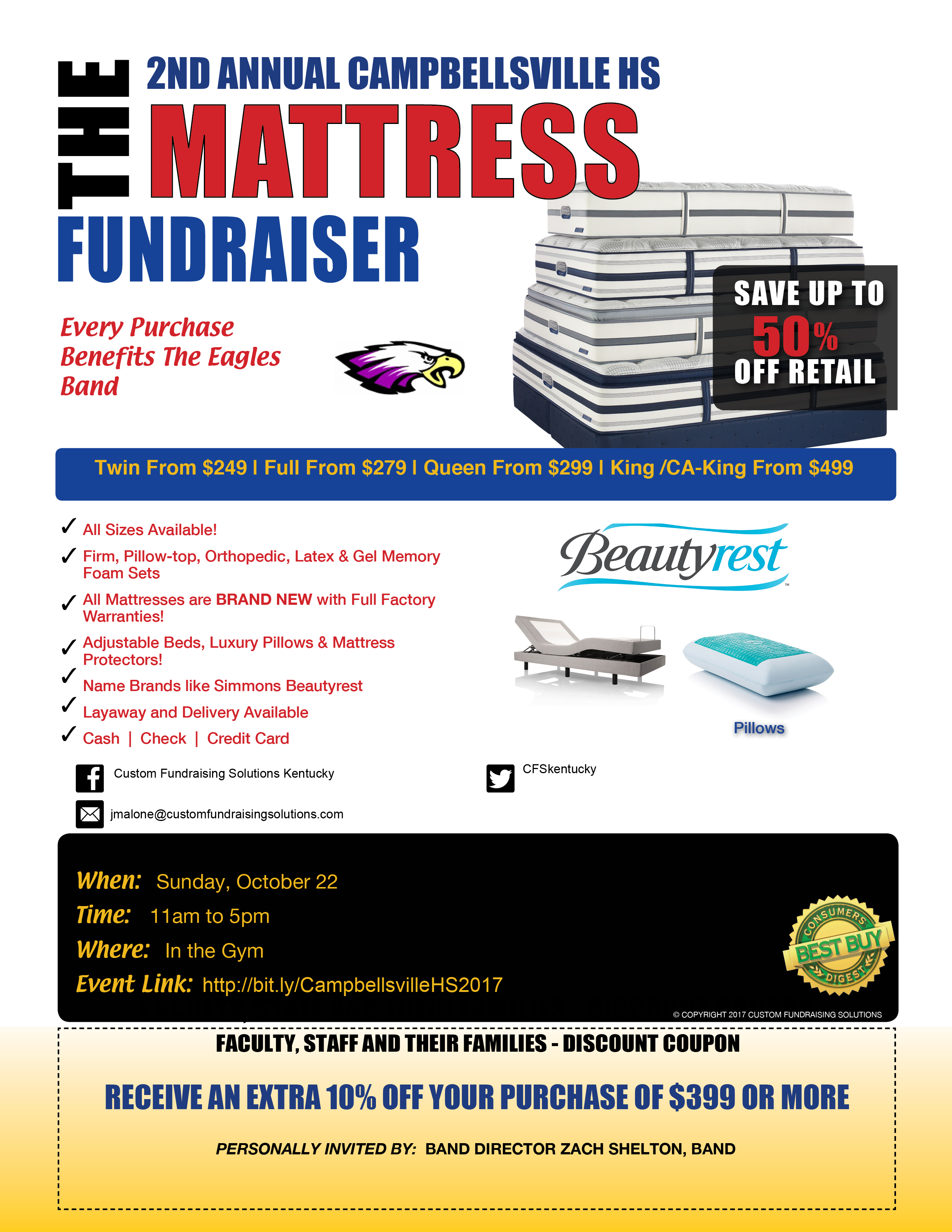 CHS Band Mattress Sale