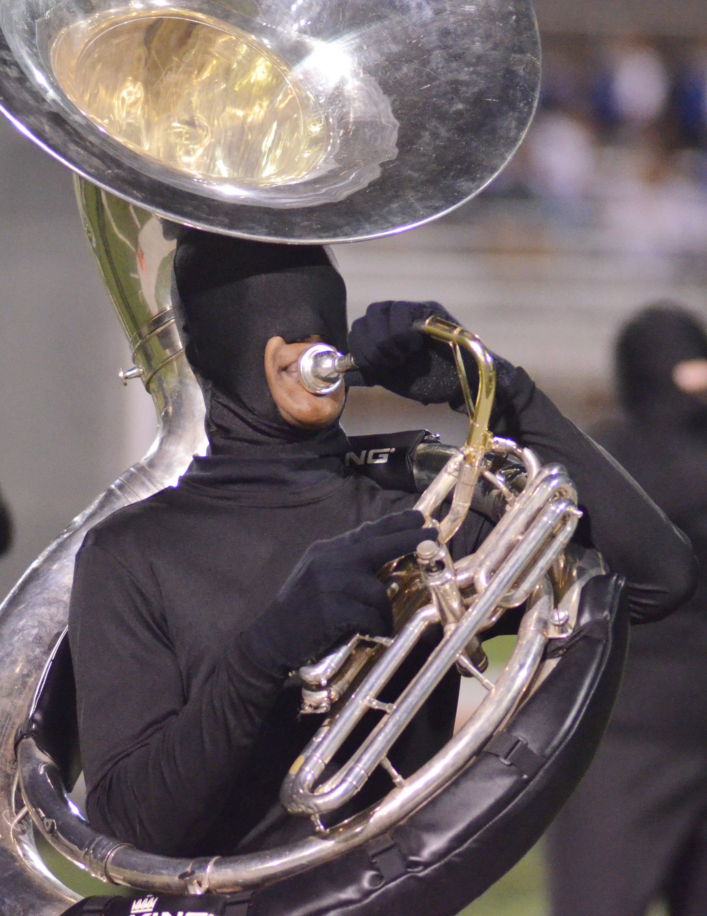 CHS freshman Zaquan Cowan plays the tuba.