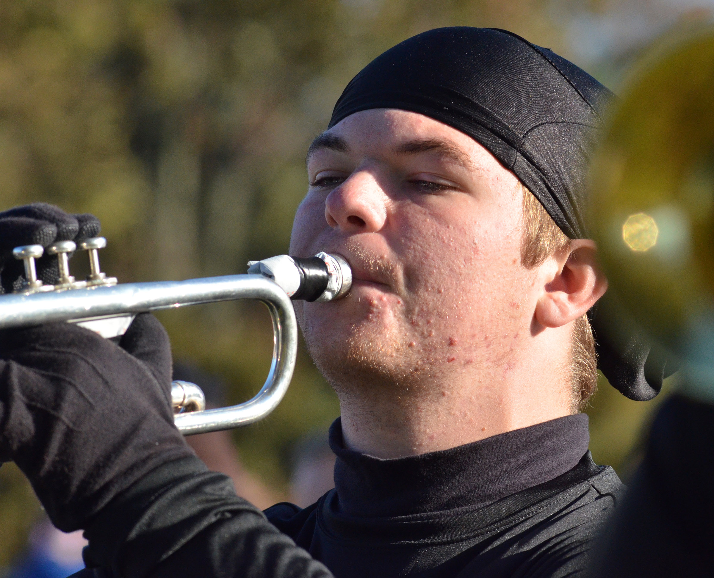 CHS junior Josh Dooley plays the trumpet.
