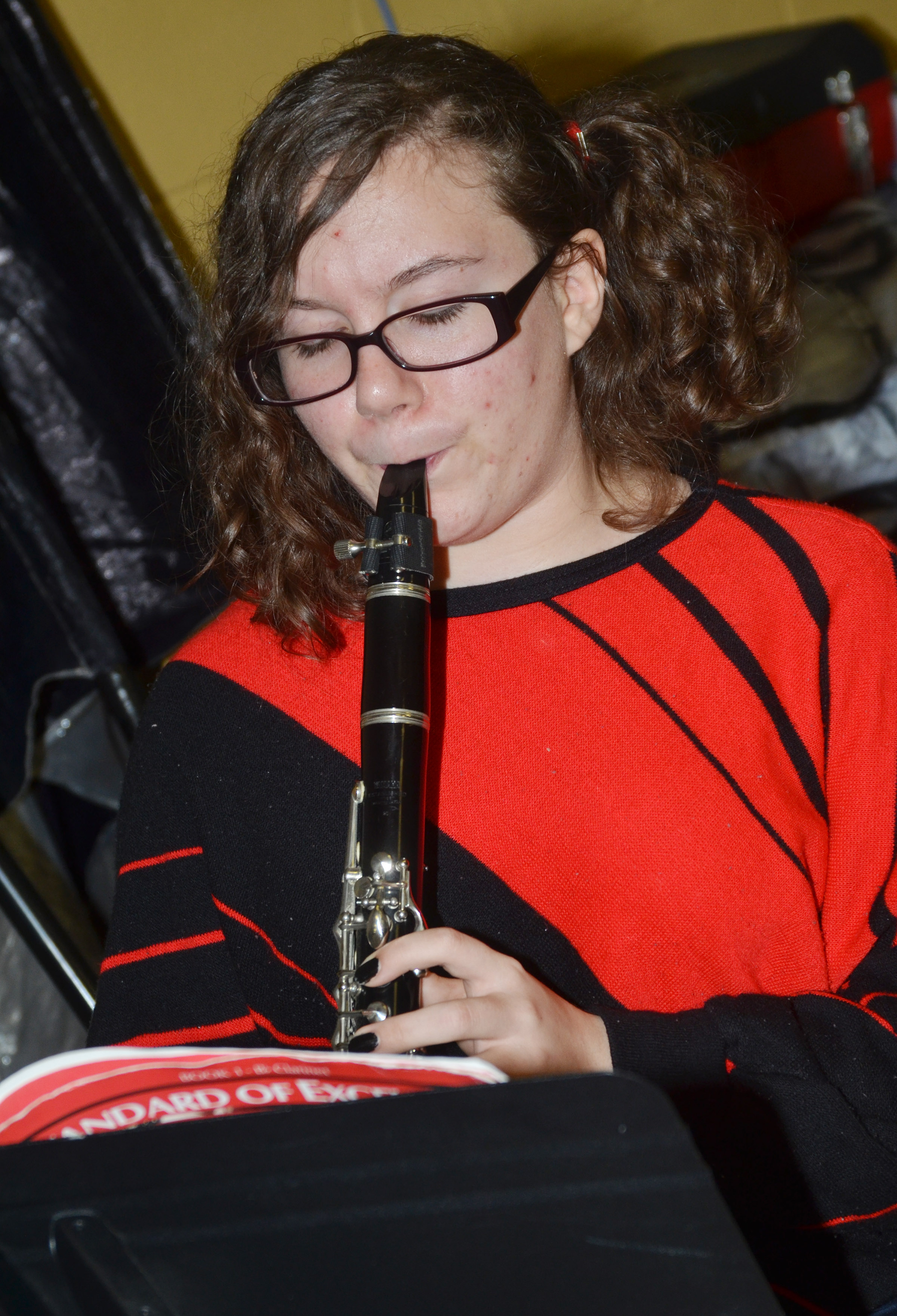 CES eighth-grader Serenity Tungate plays clarinet.