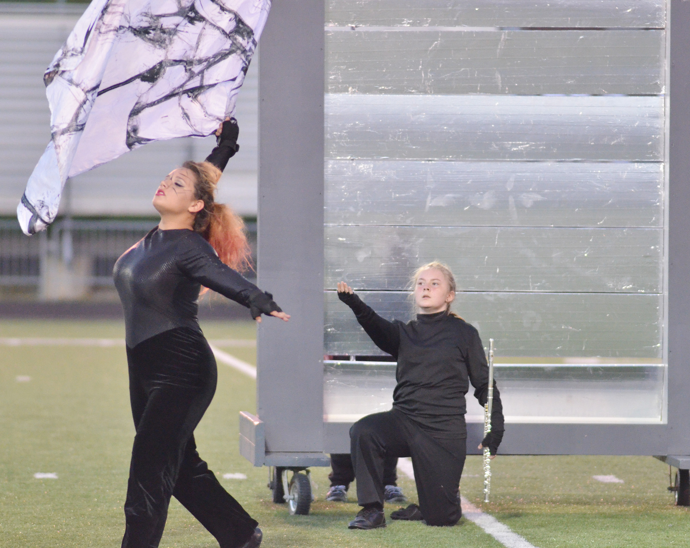 CHS sophomore Autumn Babbs, at left, and freshman Emily Hayden perform.