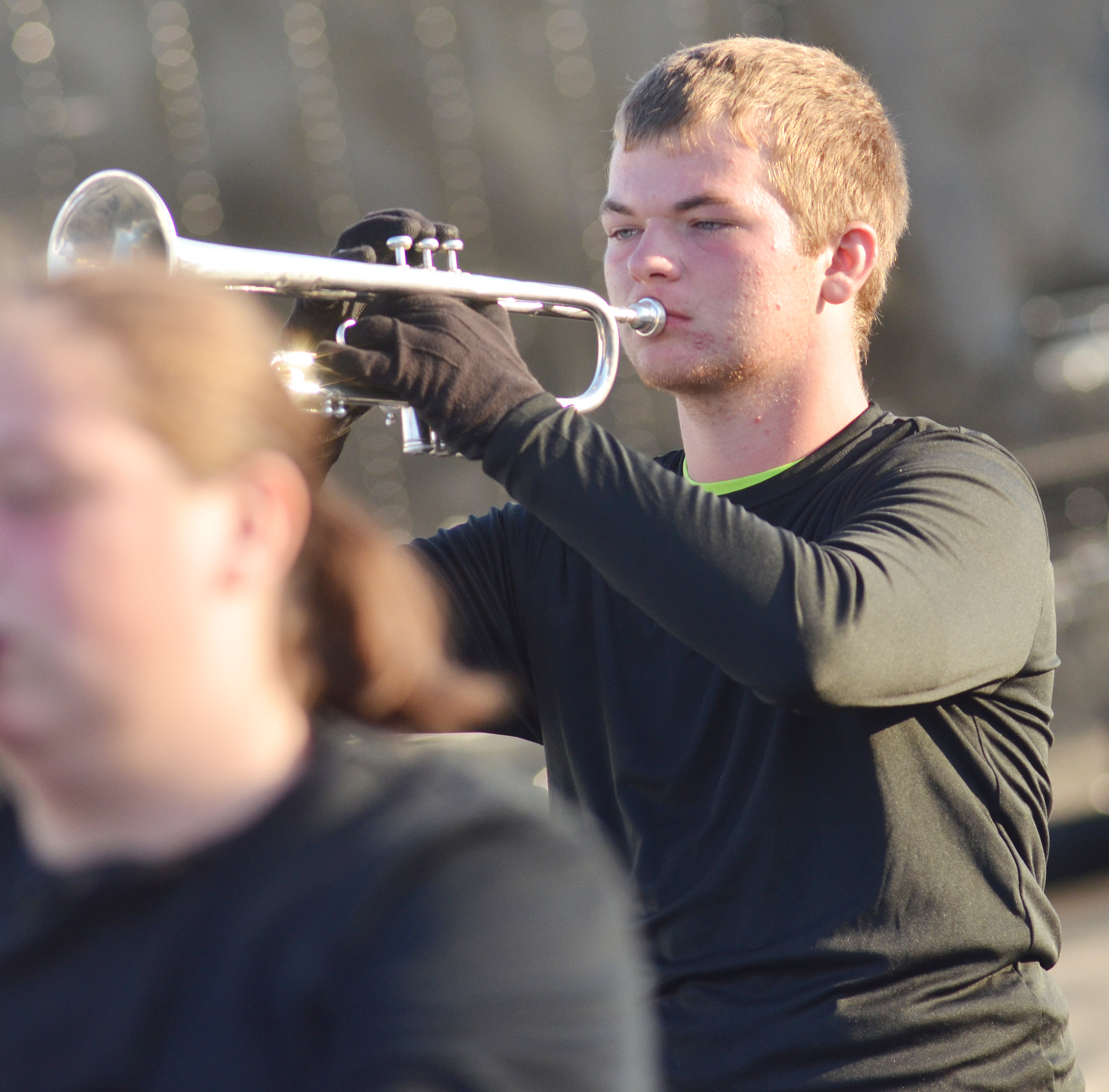 CHS junior Josh Dooley plays trumpet.