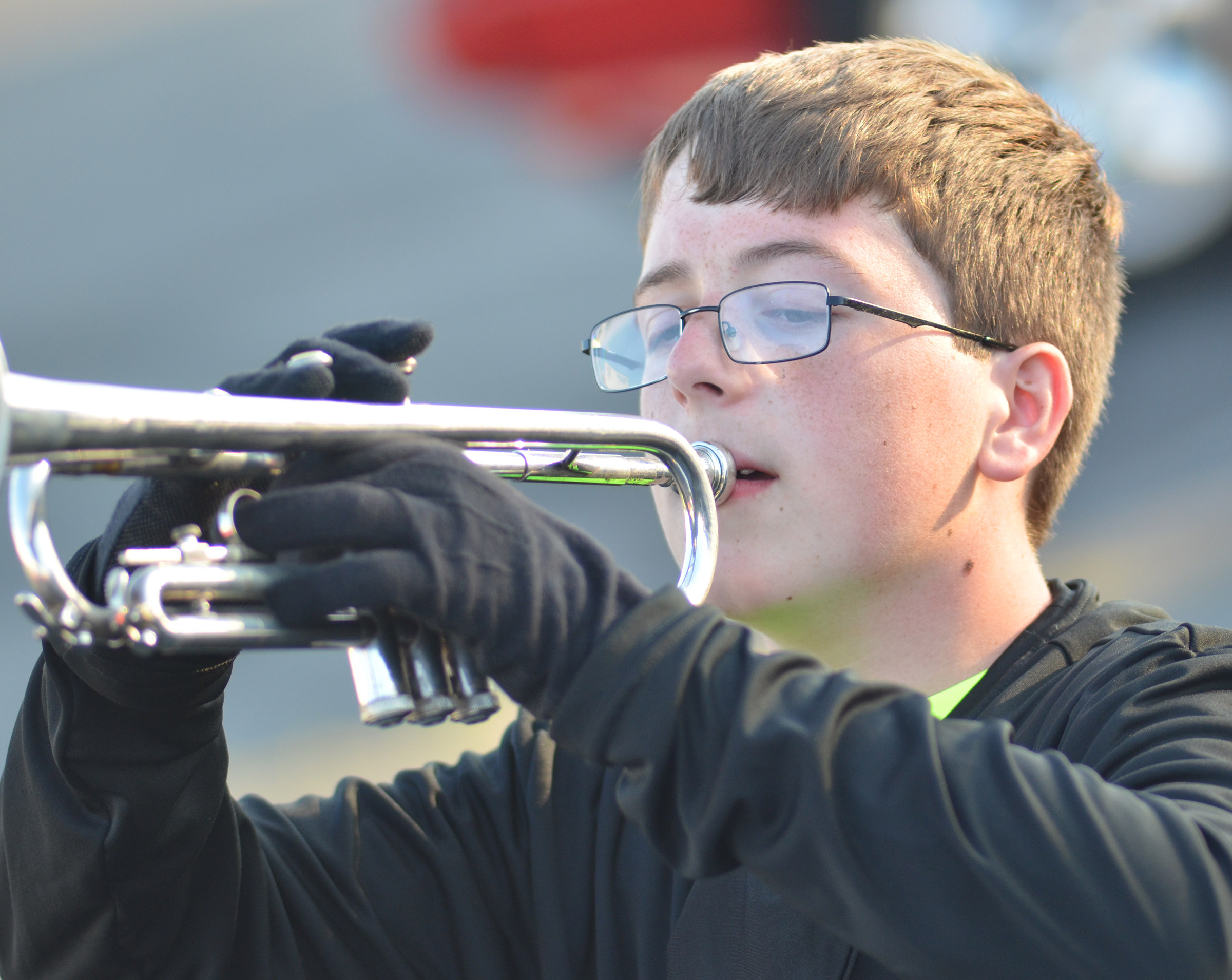 CHS sophomore Gavin Ford plays trumpet.