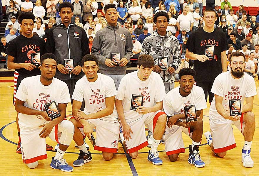 CHS freshman Malachi Corley, in back, fourth from left, was named to the 20th District all-tournament team.