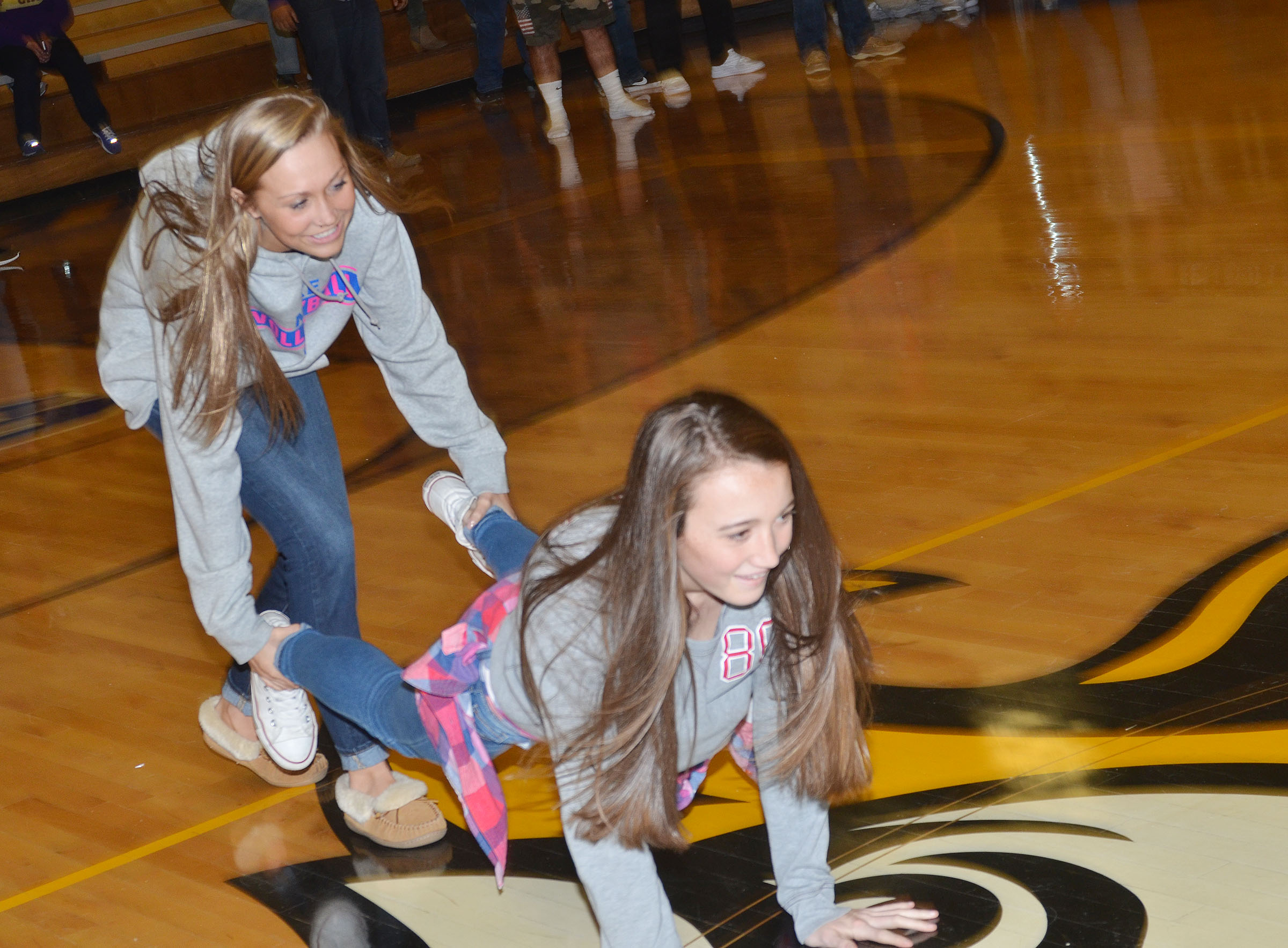 CHS students play the Relay Race game.