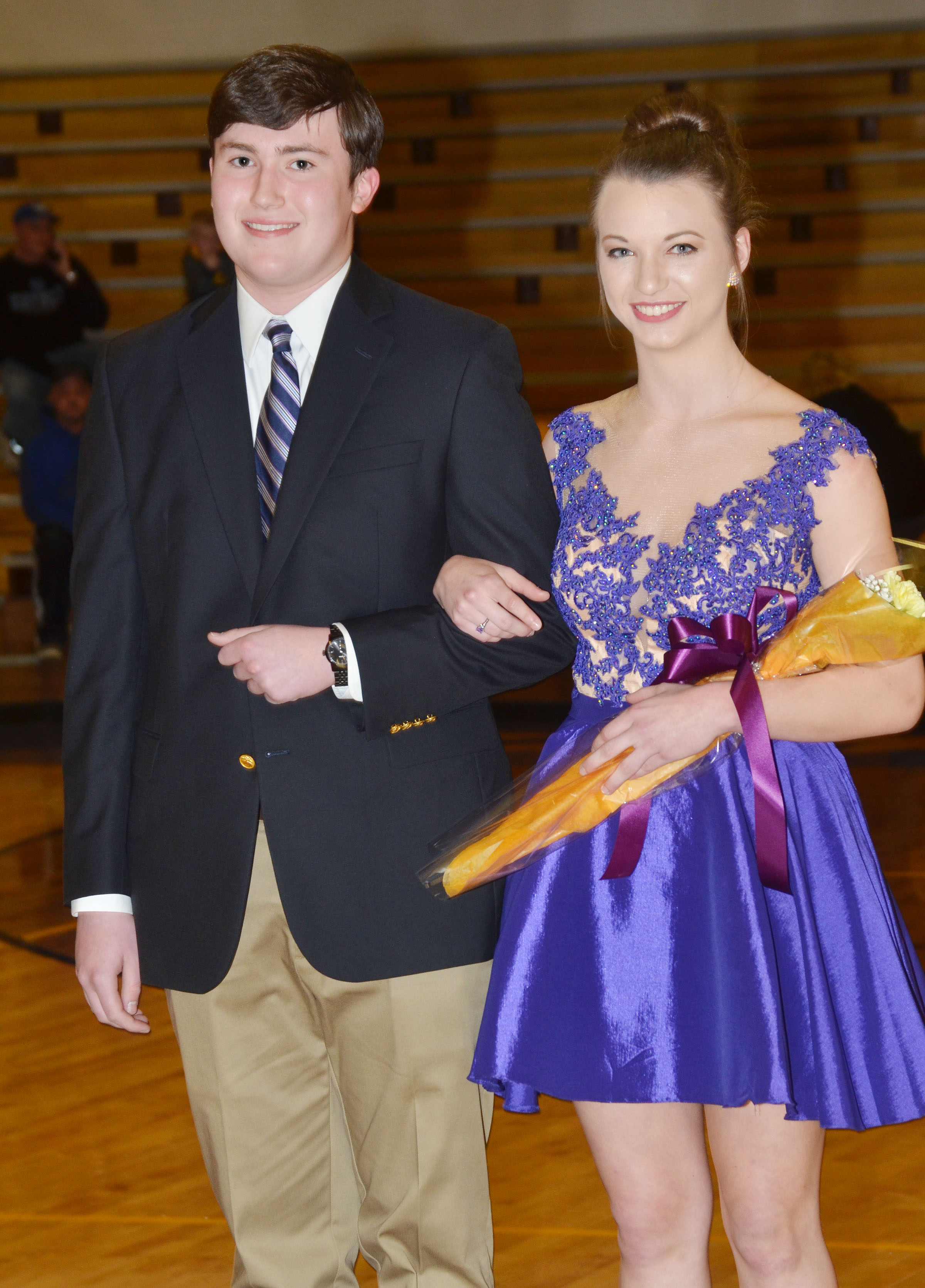 Zack Settle and Caylie Blair represented the CHS senior class.