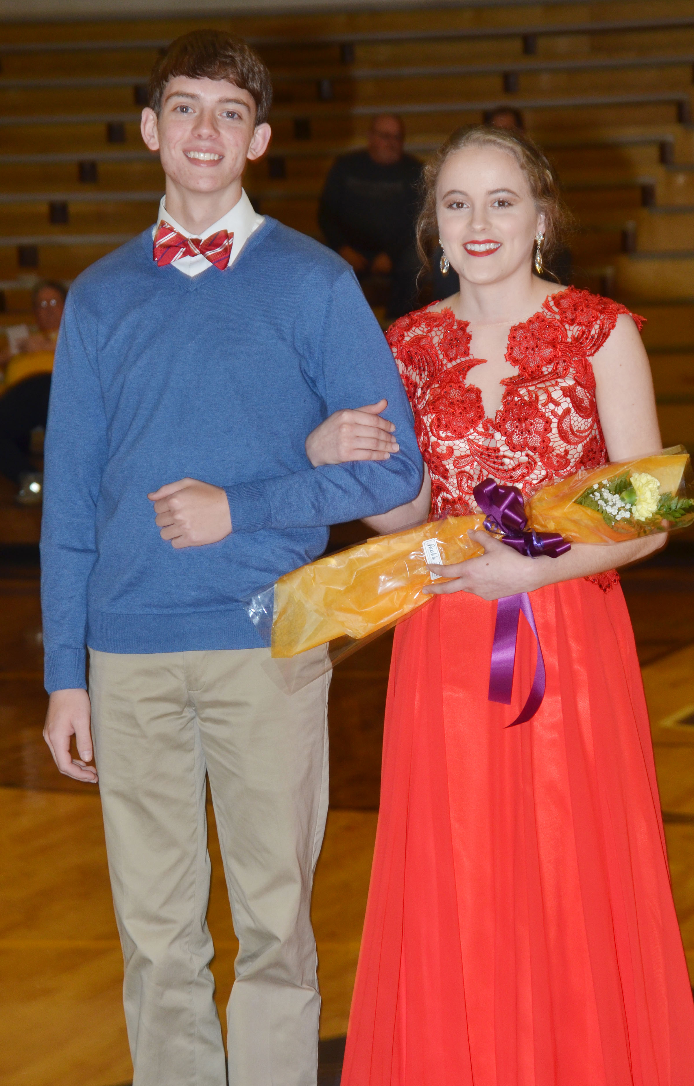 Caroline McMahan and Murphy Lamb represented the CHS senior class.
