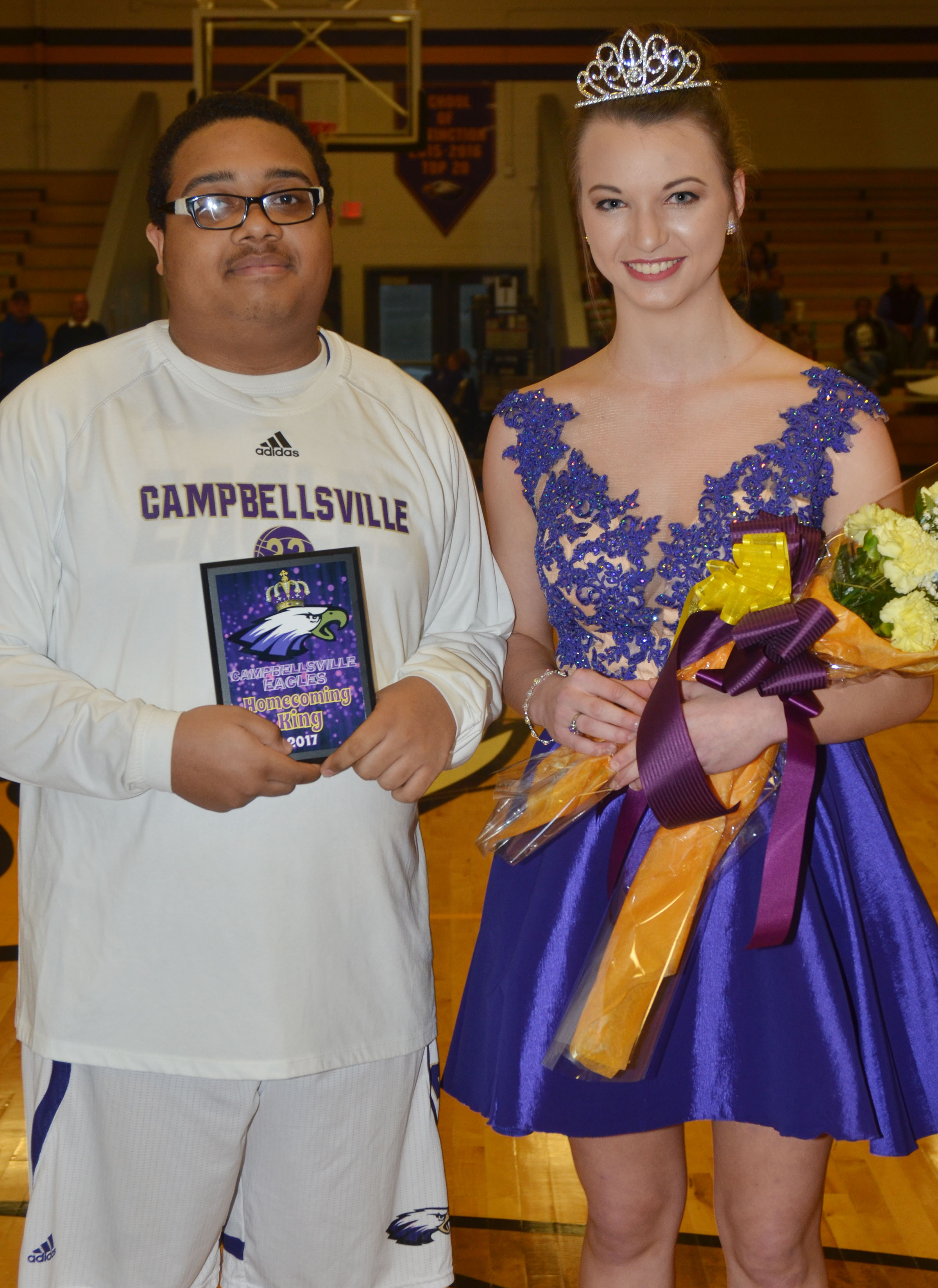 CHS seniors Ricky Smith-Cecil and Caylie Blair were named this year's basketball homecoming king and queen.