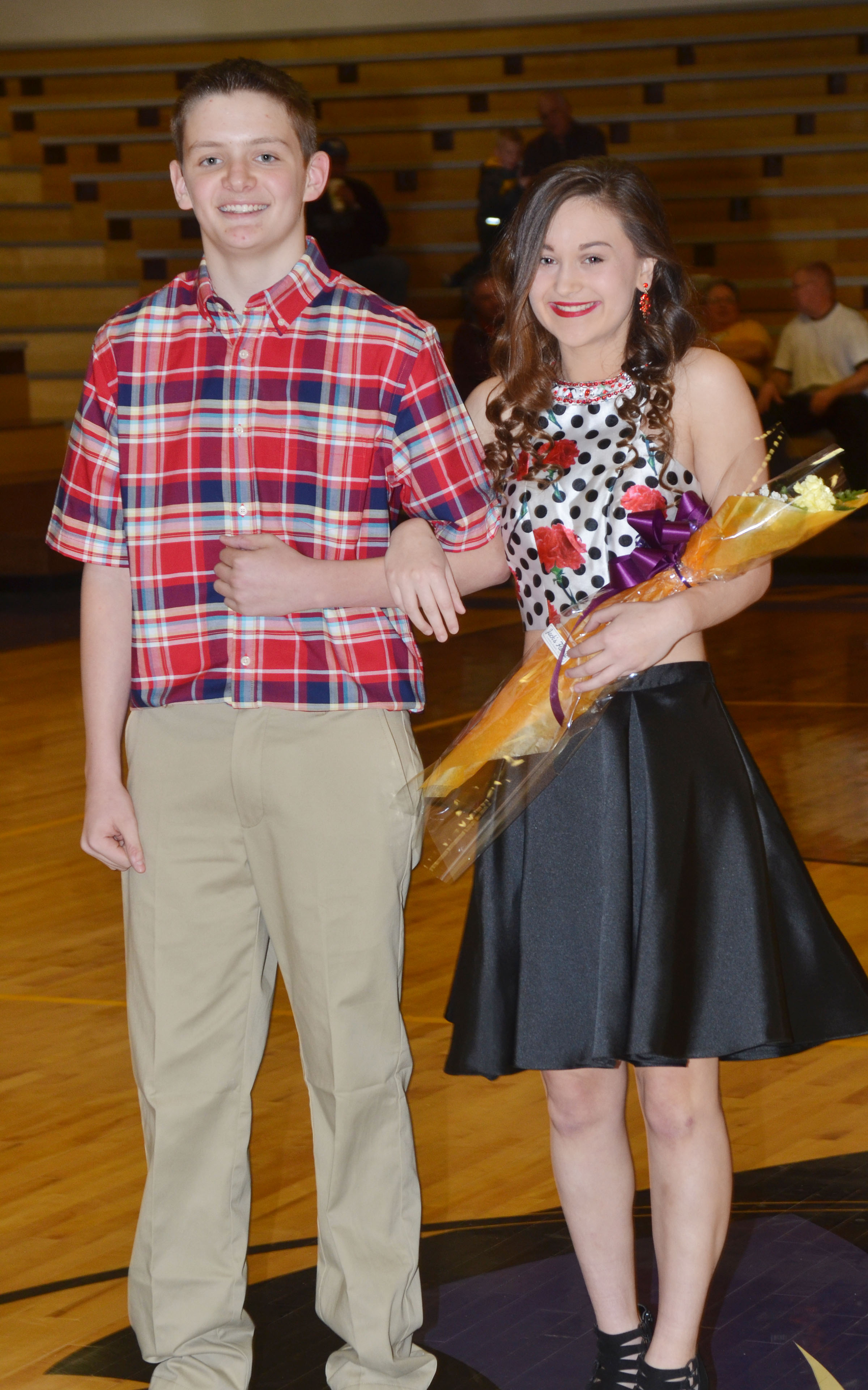 Bailey Thompson and Blake Allen represented the CHS freshman class.