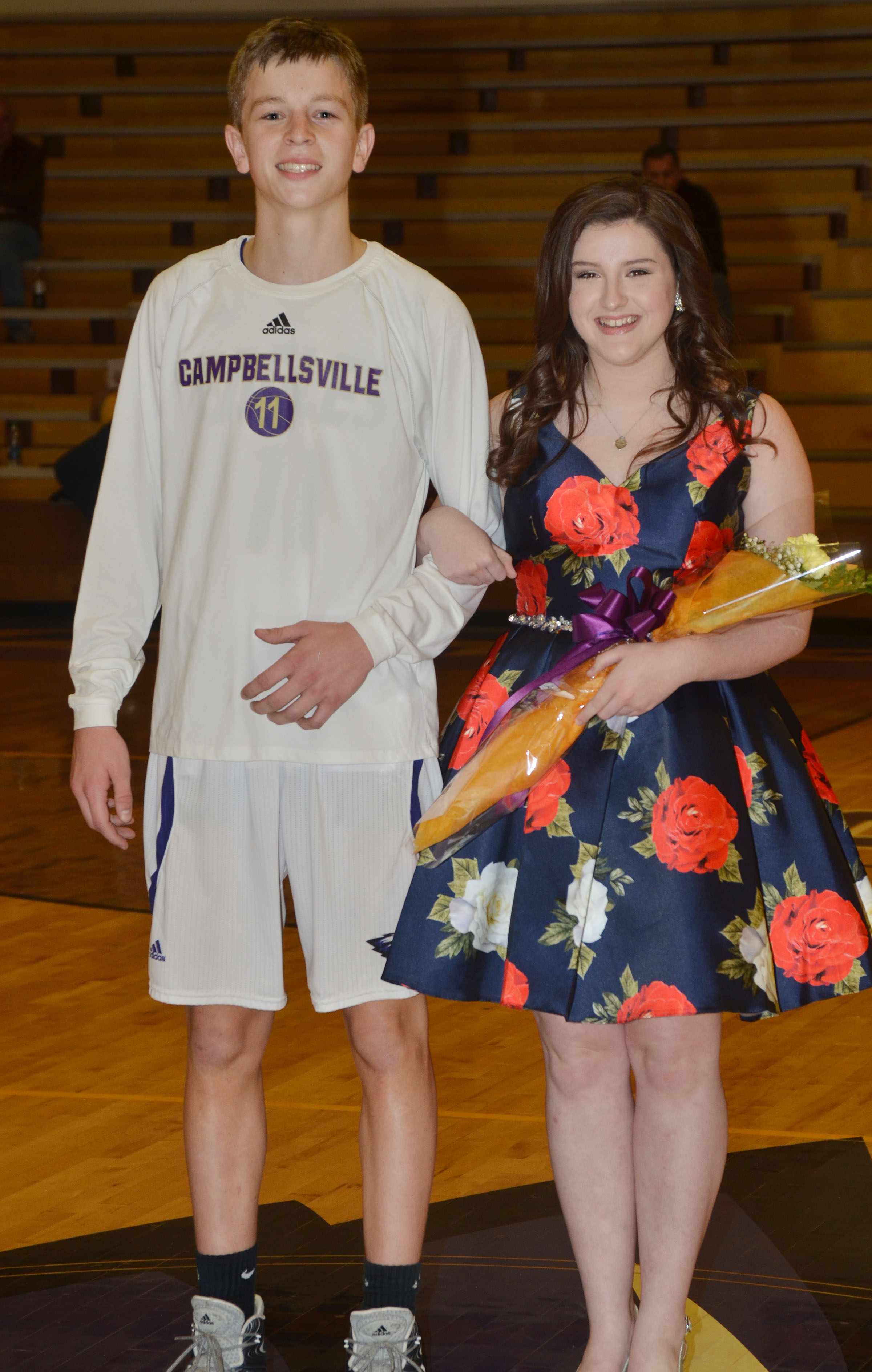 Alli Wilson and Noah Hughes represented the CHS freshman class.