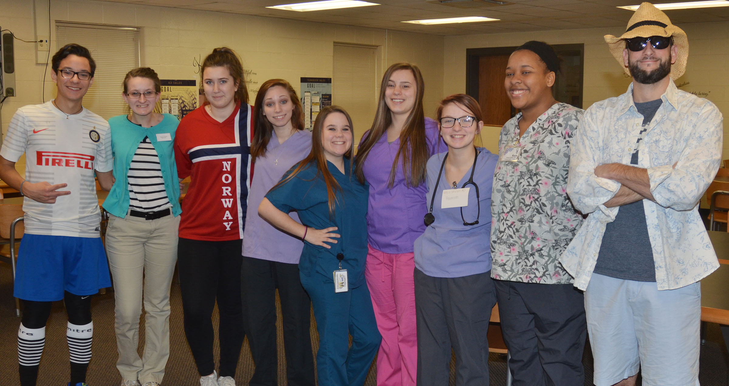 CHS students and teachers dress for Future You College and Career Day.