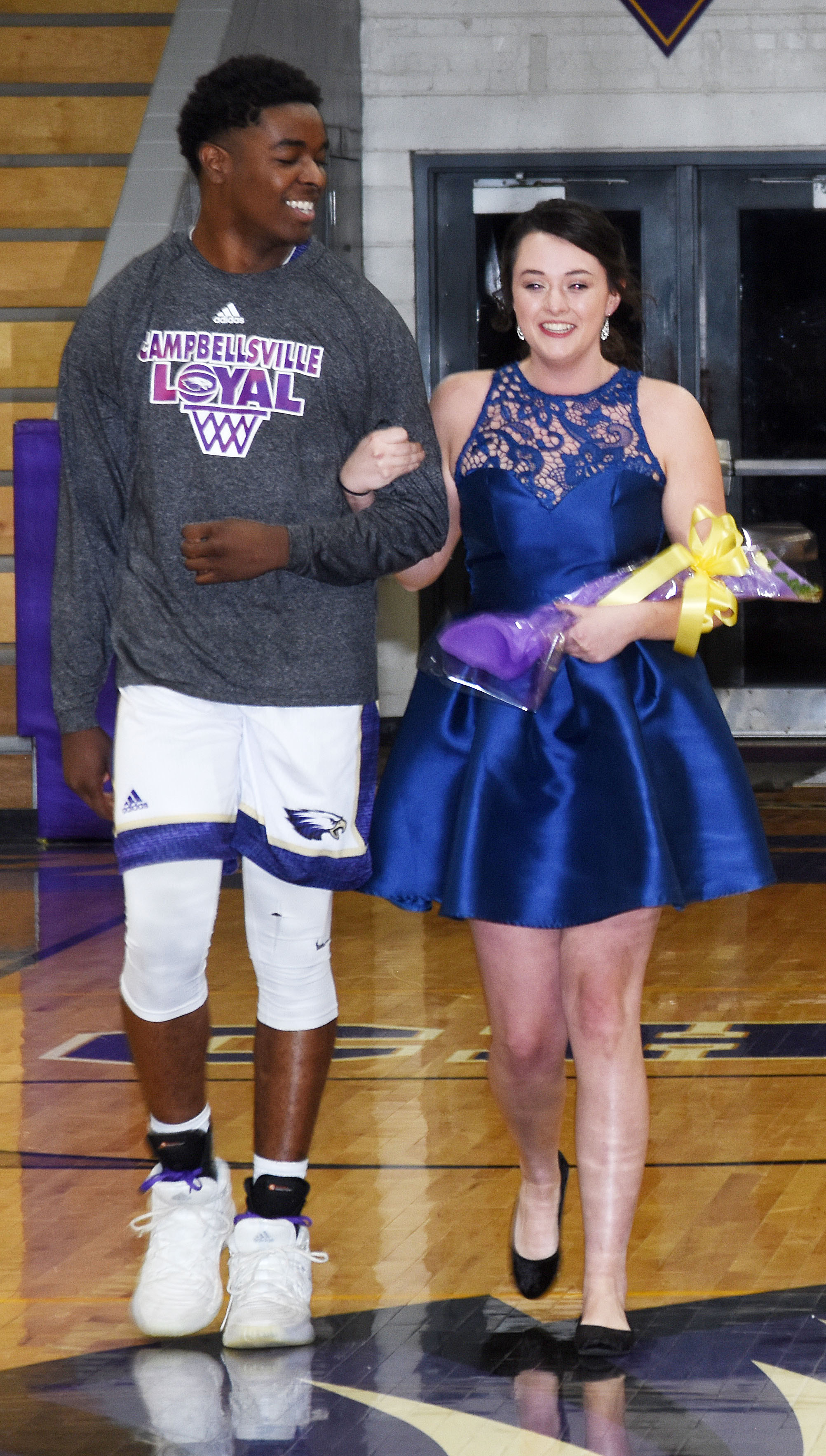 Chanson Atkinson and Missy Vanorder represented the senior class.