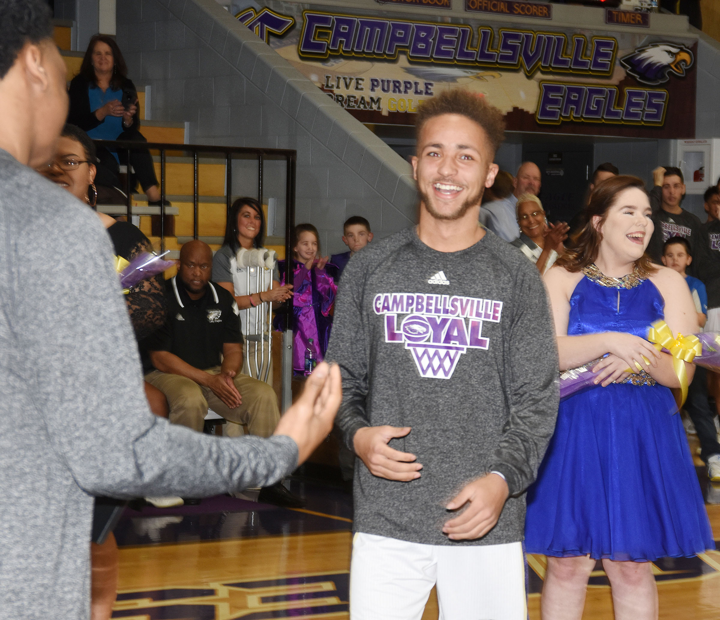 CHS senior Ethan Lay is congratulated as he is named homecoming king.