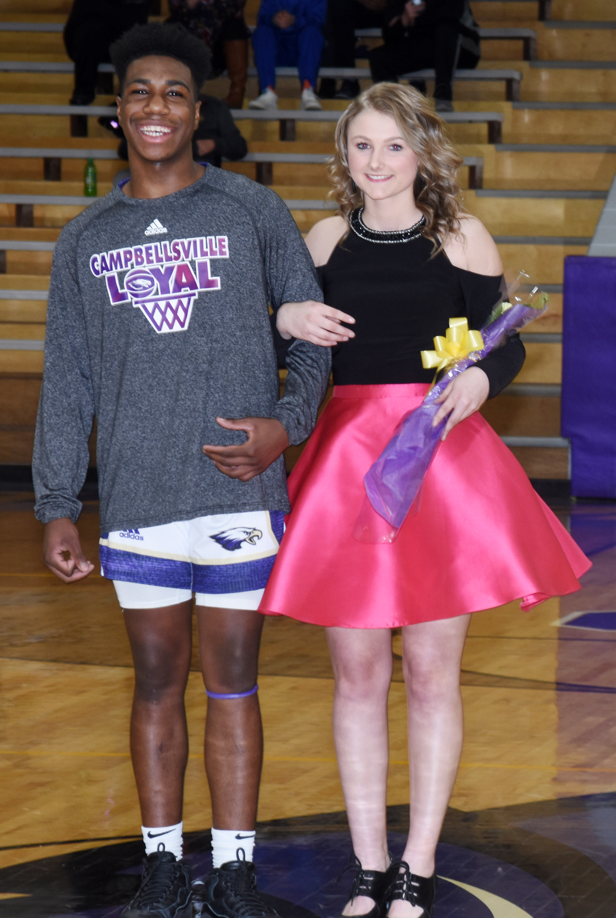 Malachi Corley and Victoria Cox represented the CHS sophomore class.