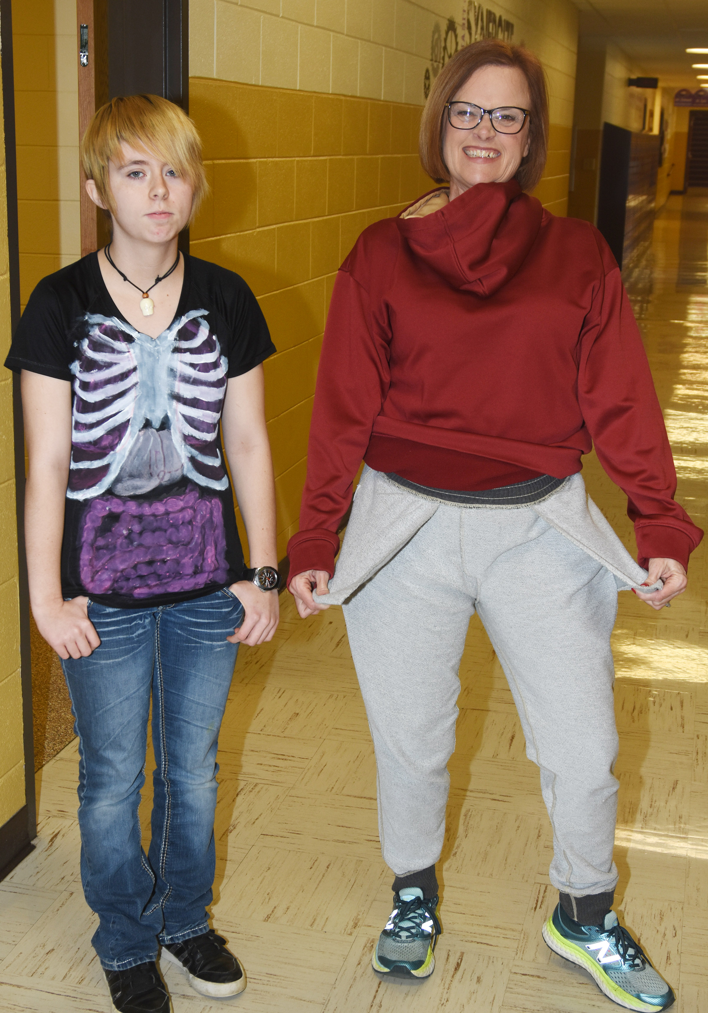 CHS students dress for Inside Out Day.