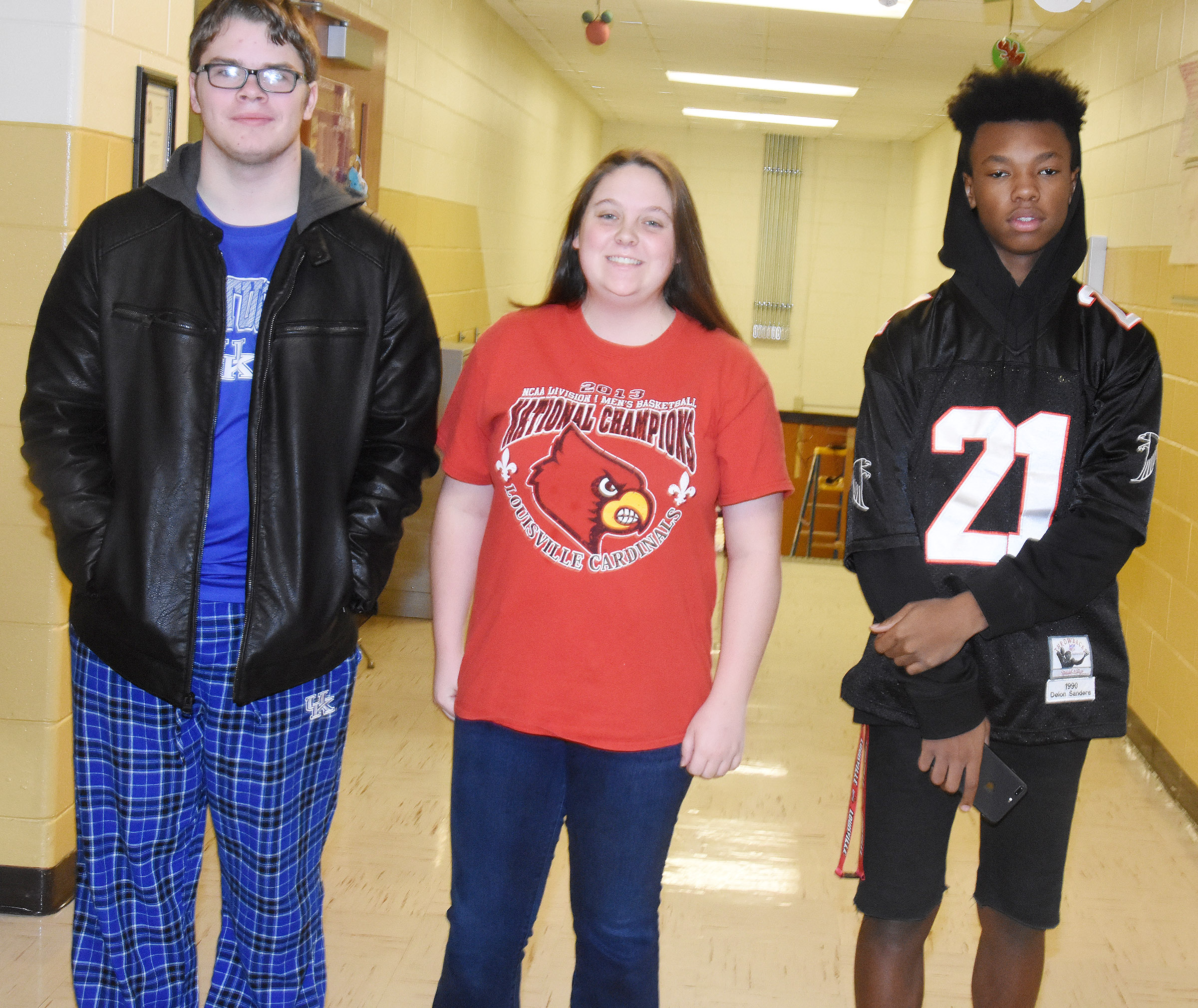 CHS students dress for Support Your Team Day.